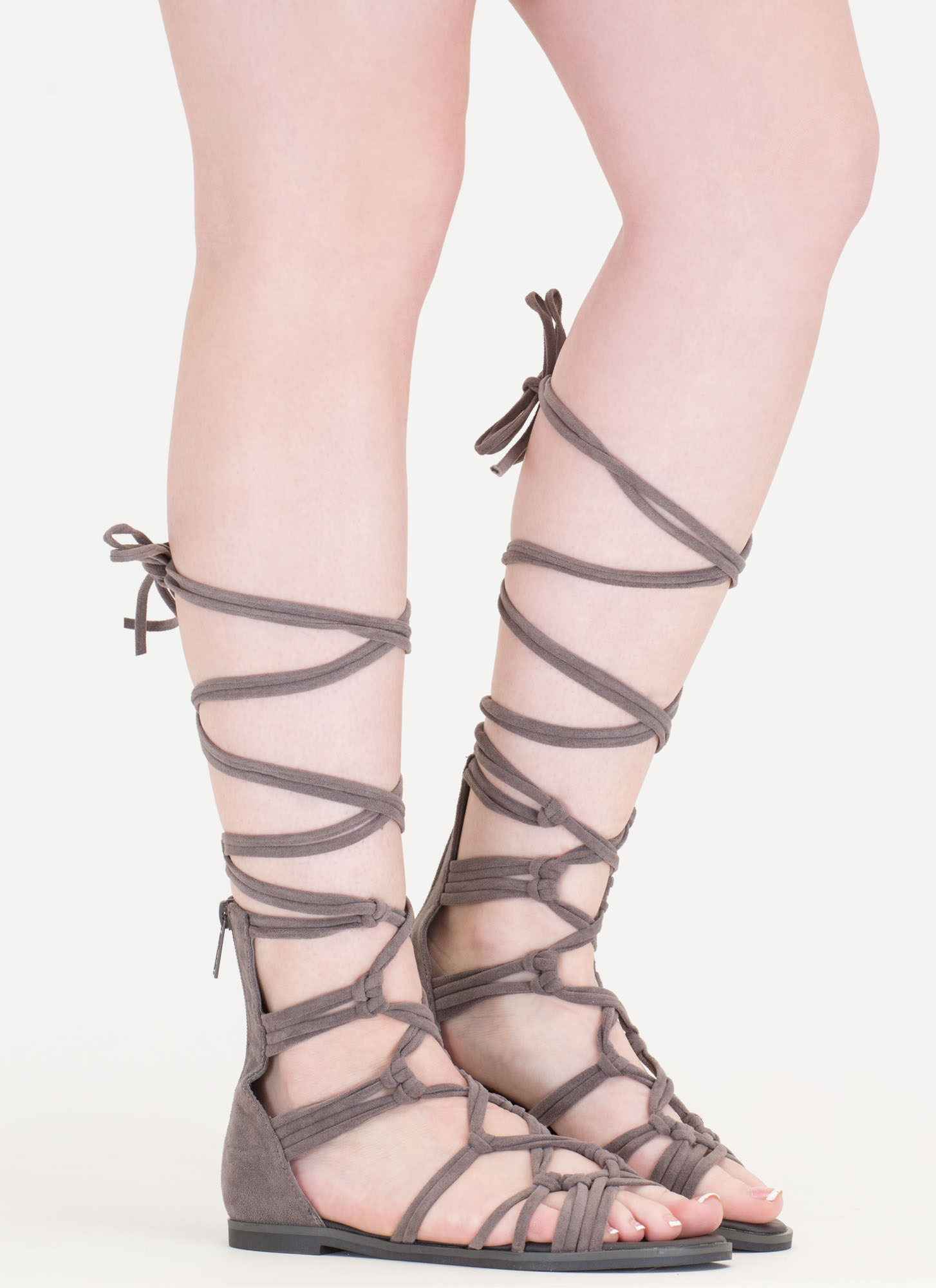 Knotty By Nature Gladiator Sandals GREY