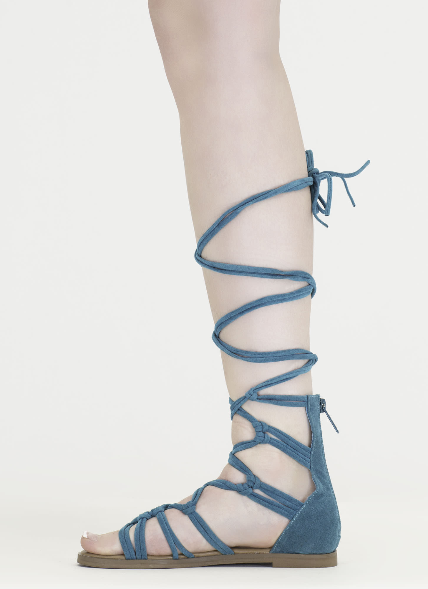 Knotty By Nature Gladiator Sandals TURQUOISE