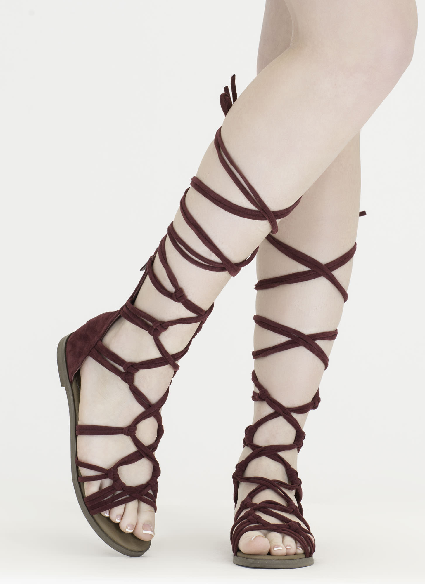 Knotty By Nature Gladiator Sandals WINE
