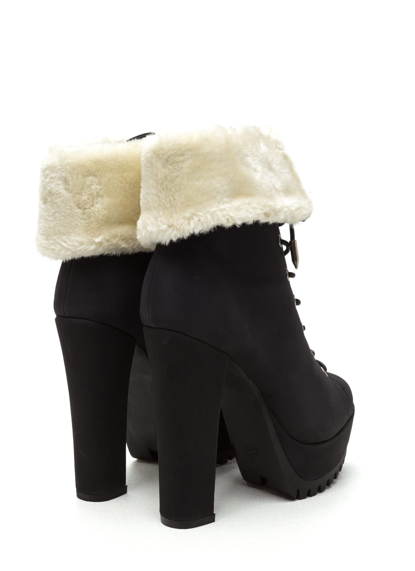 Fur Your Own Good Chunky Booties BLACK