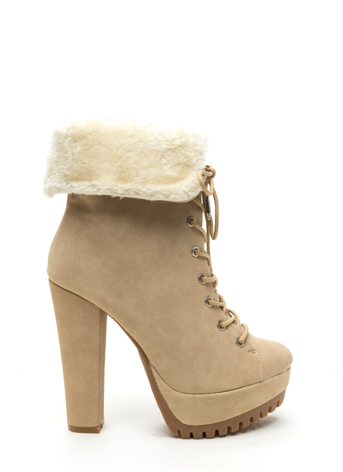 Fur Your Own Good Chunky Booties NUDE