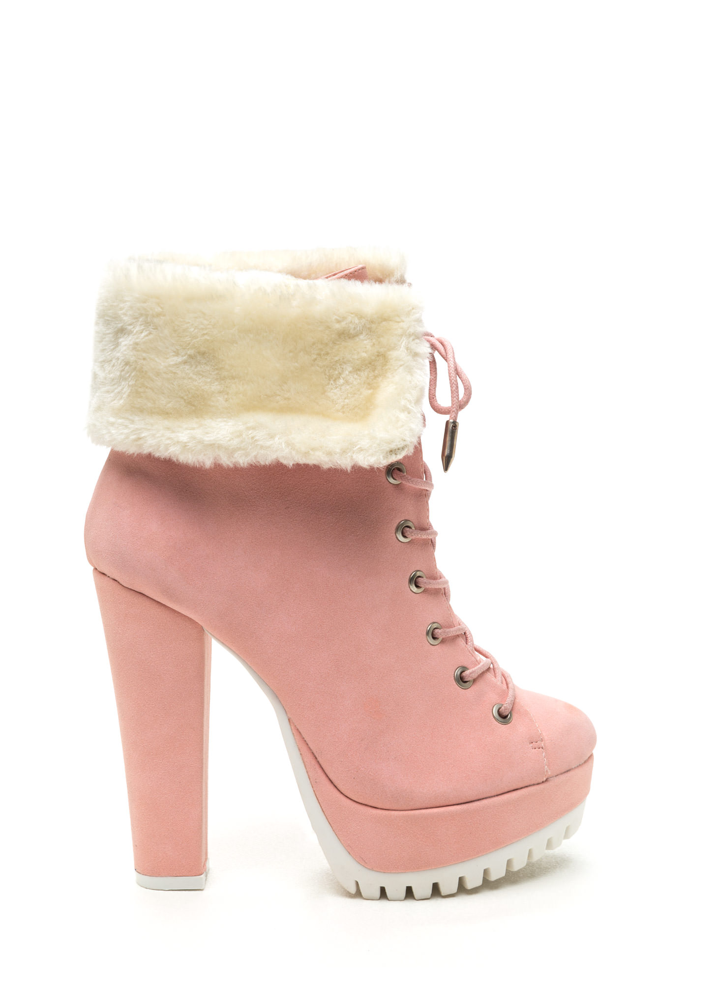 Pink Booties Heels - Is Heel