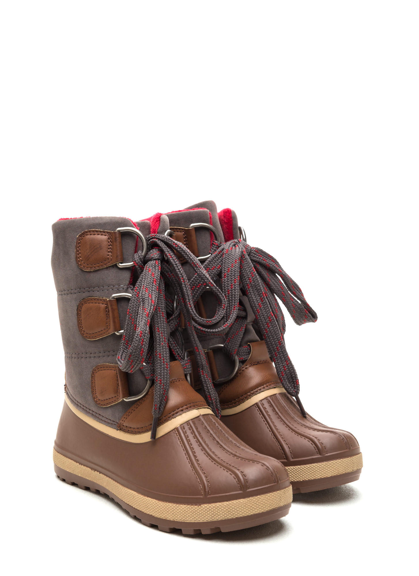 Snowed In Mixed Media Duck Boots CHESTNUT