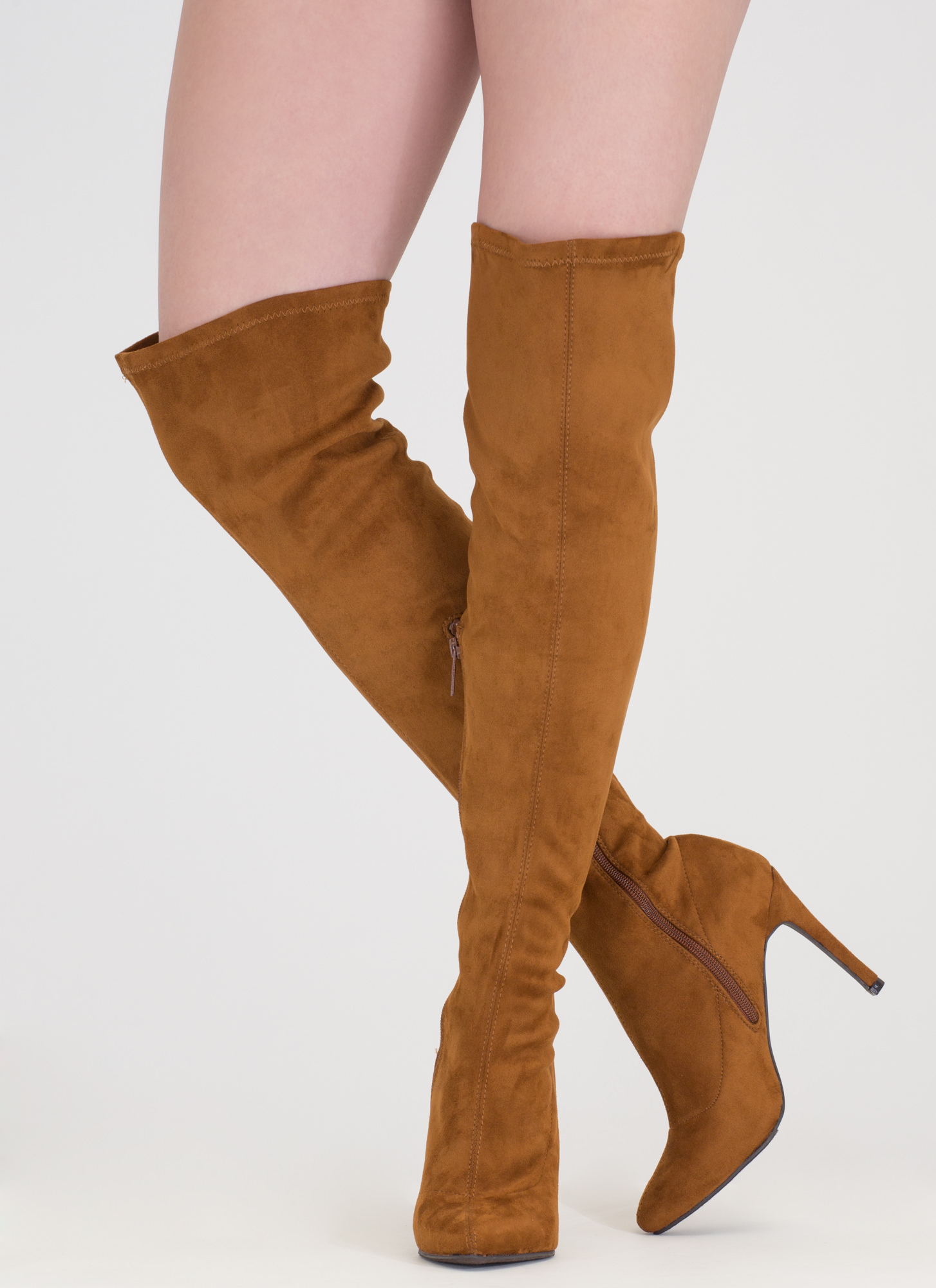 Smooth Trip Over-The-Knee Boots TAN