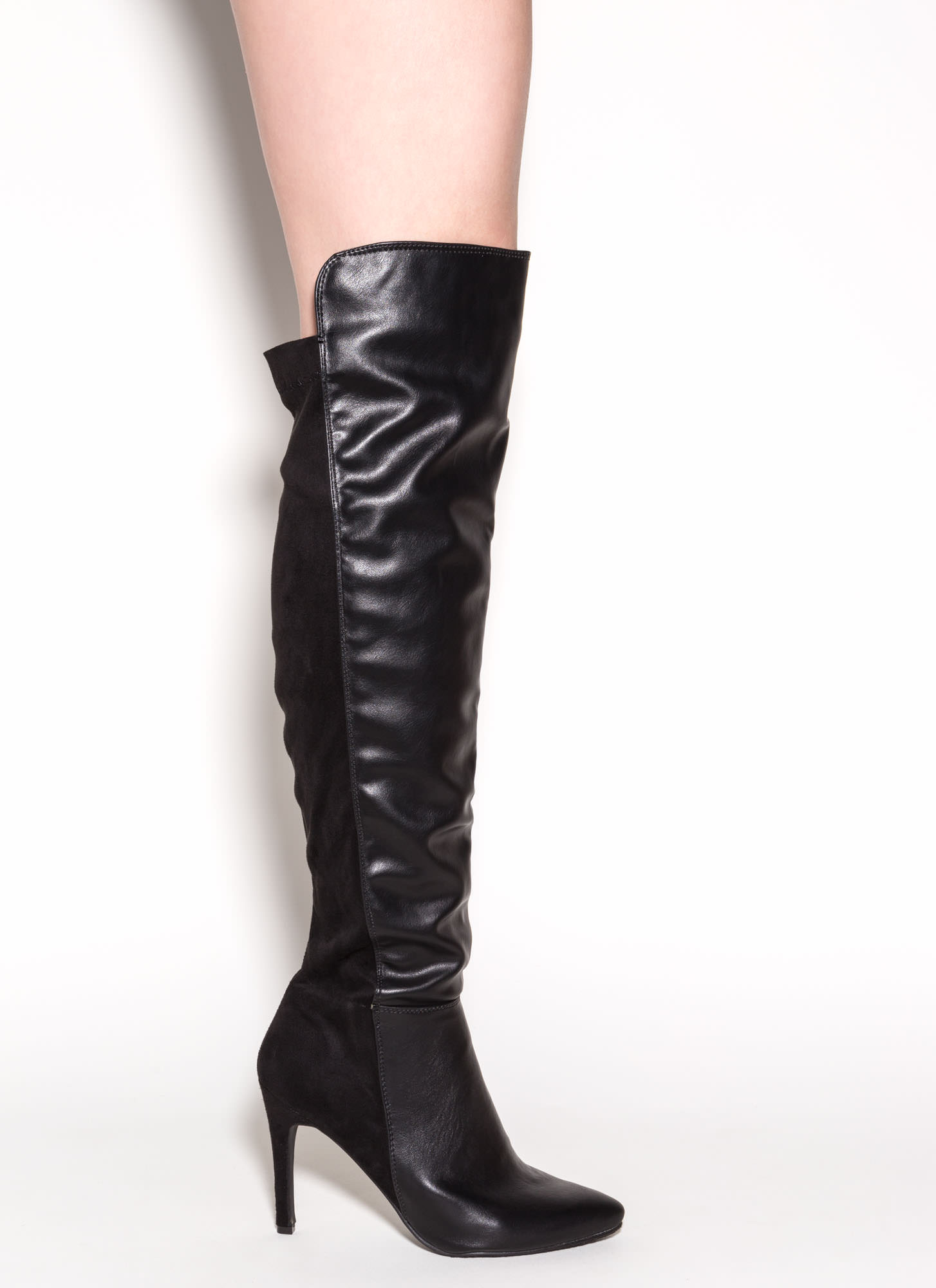 Mix Master Over-The-Knee Boots BLACK
