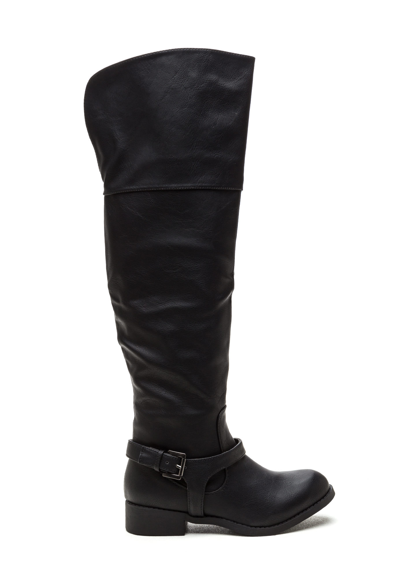 Harness Your Talents Thigh-High Boots BLACK