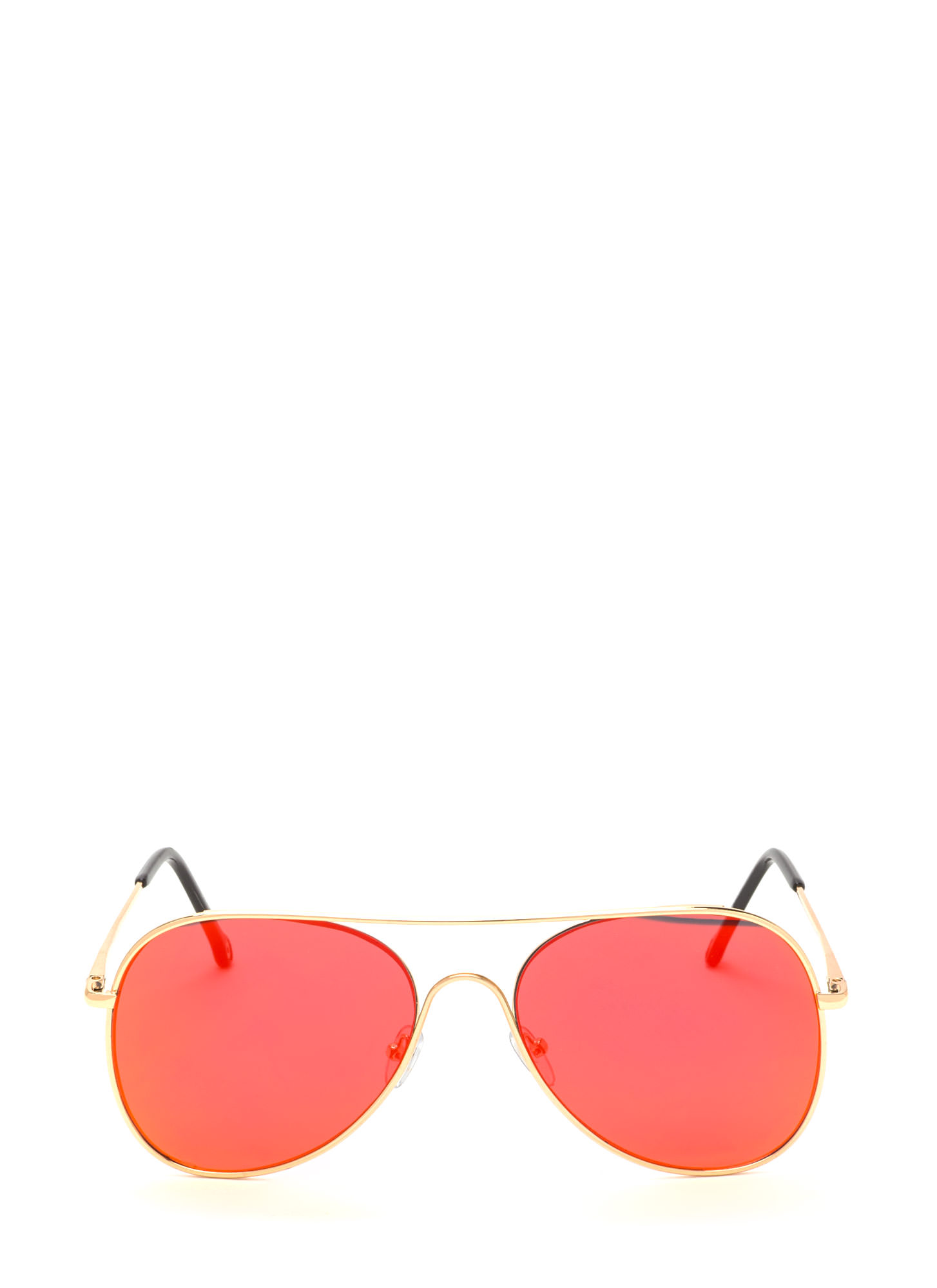 Frame Of Mind Aviator Sunglasses DKORANGE