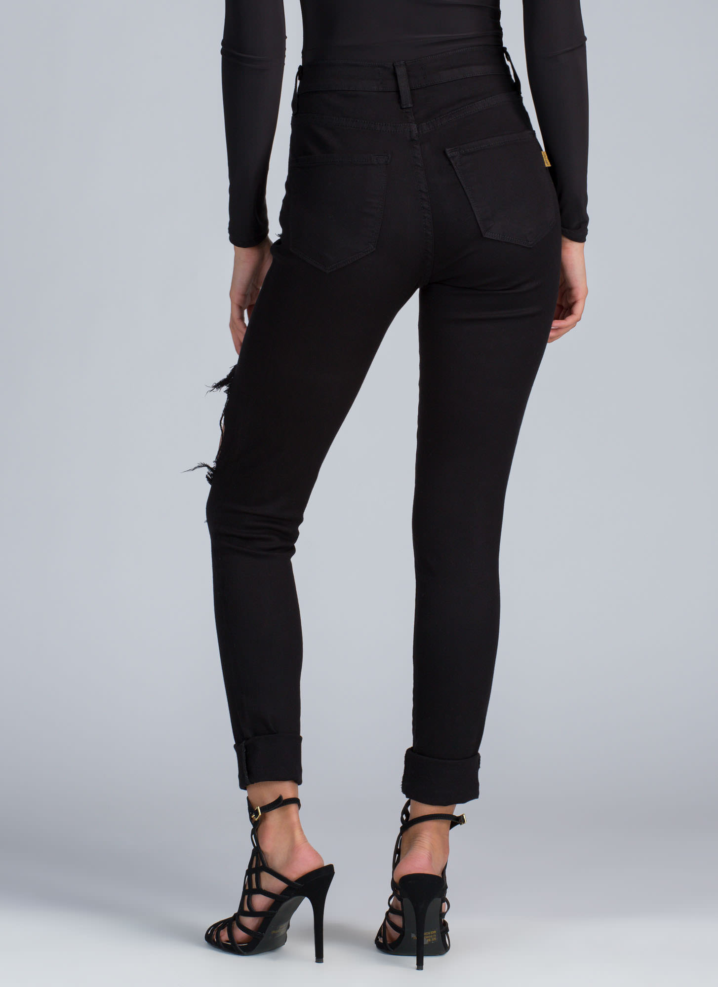 Shred-y To Rock Distressed Skinny Jeans BLACK