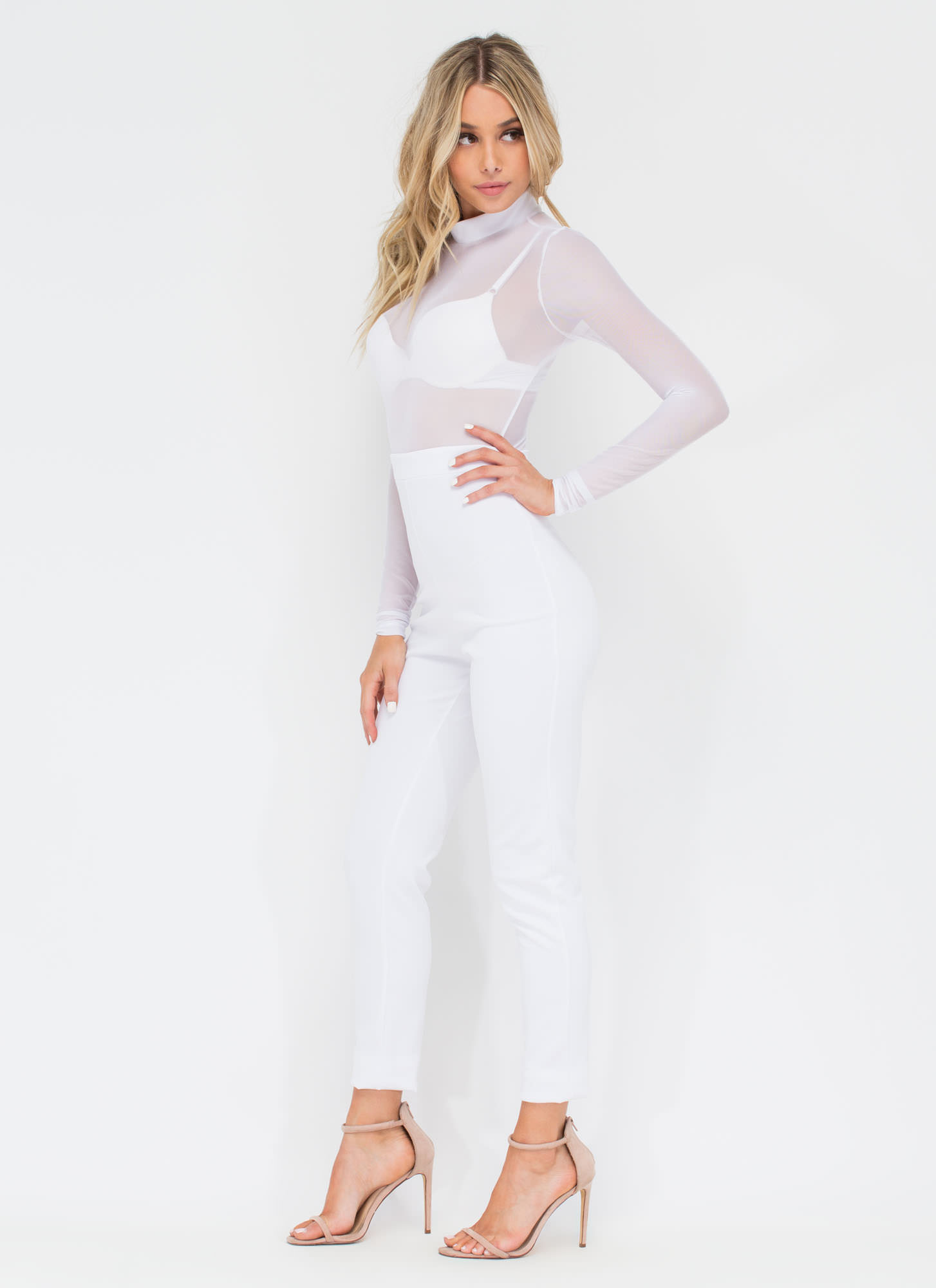 Sheer Me Yours Jumpsuit WHITE