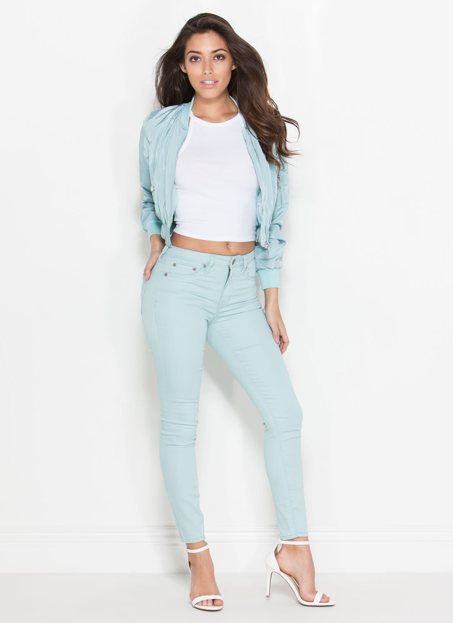 Cream Of The Crop Bomber Jacket MINT