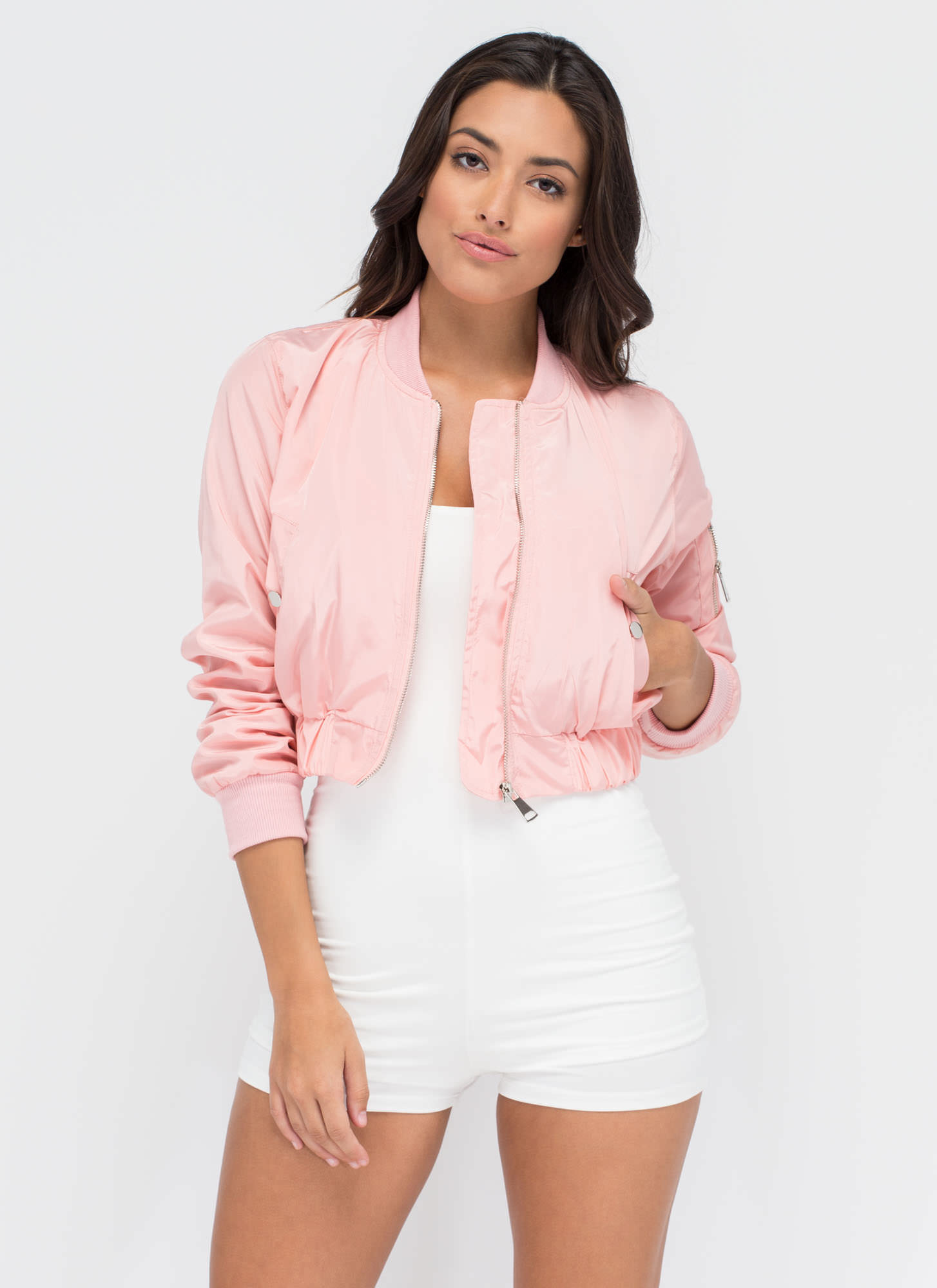 Cream Of The Crop Bomber Jacket PINK