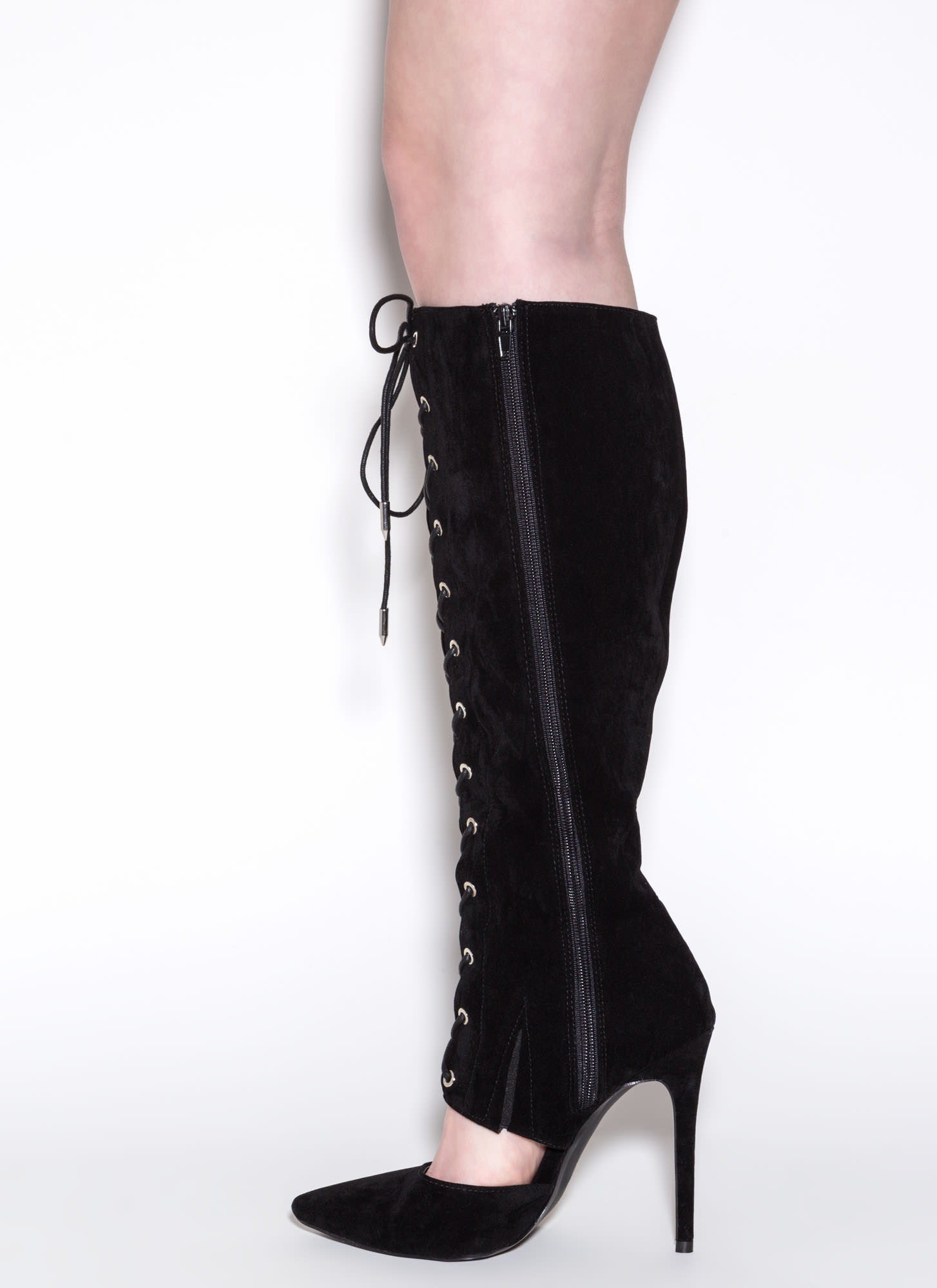 Major Influence Lace-Up Boots BLACK