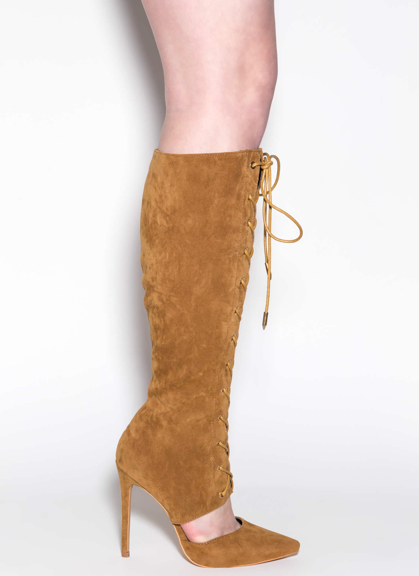 Major Influence Lace-Up Boots MOCHA