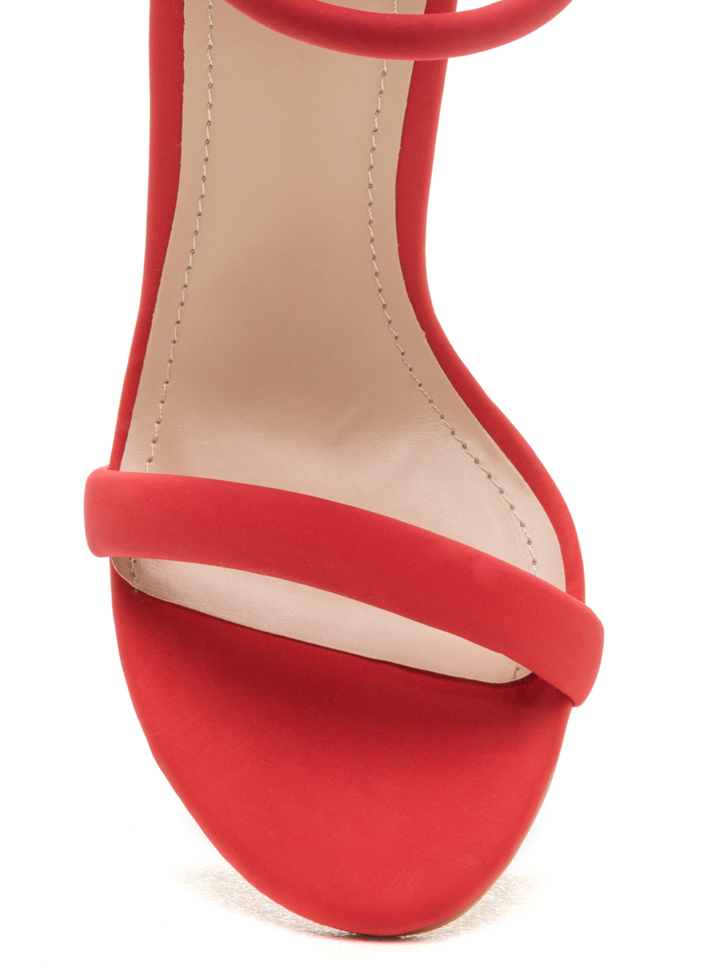 Give Me Space Strappy Heels RED