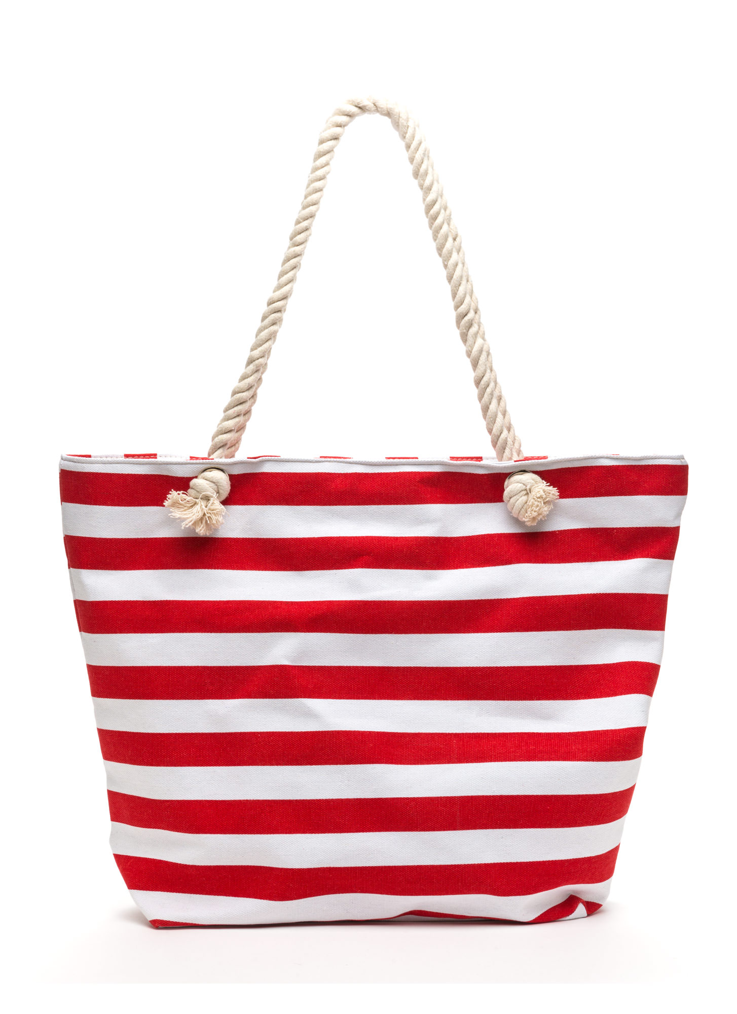 Empire Stripes Back Oversized Tote RED
