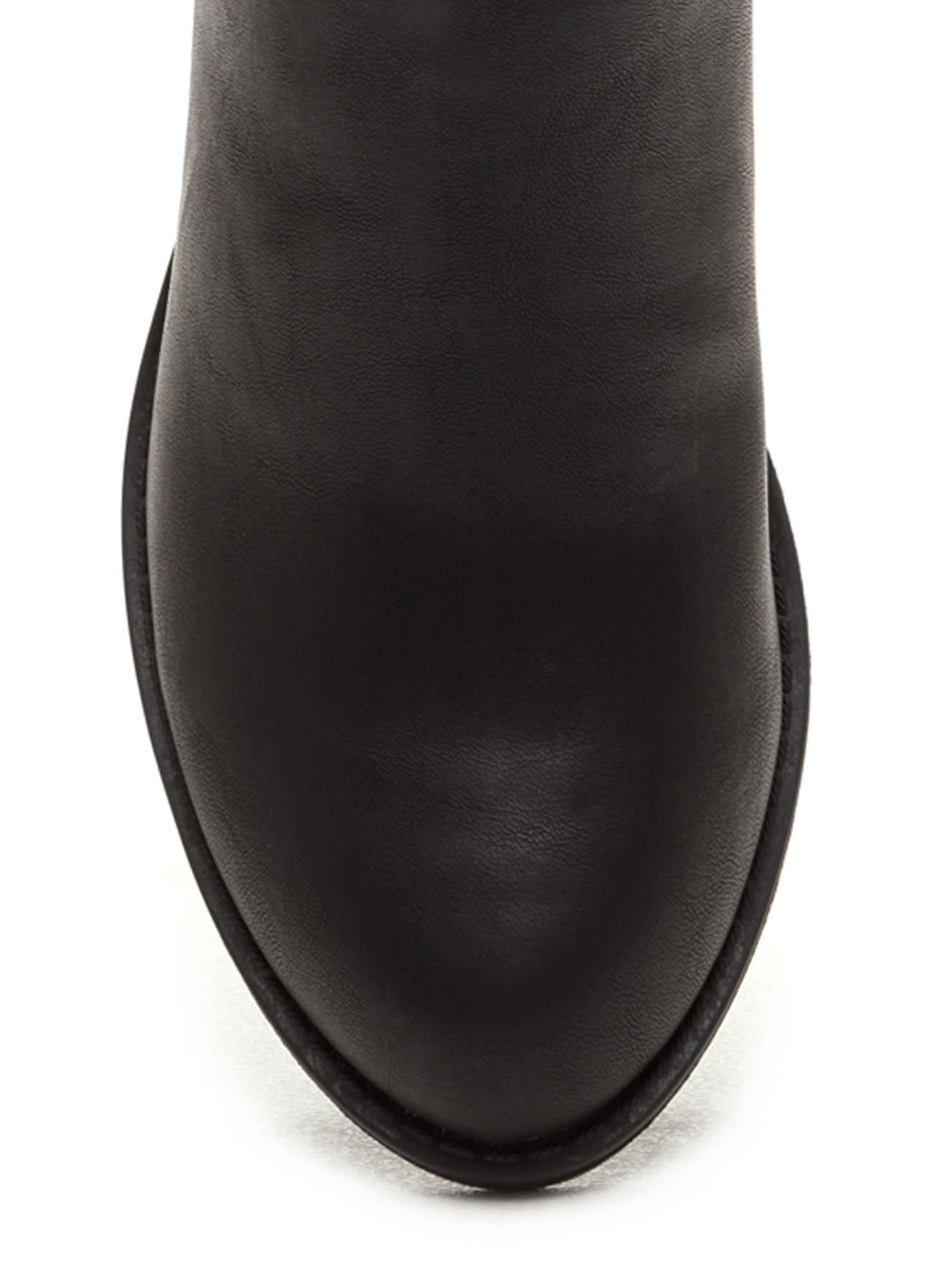Street Style Faux Leather Booties BLACK
