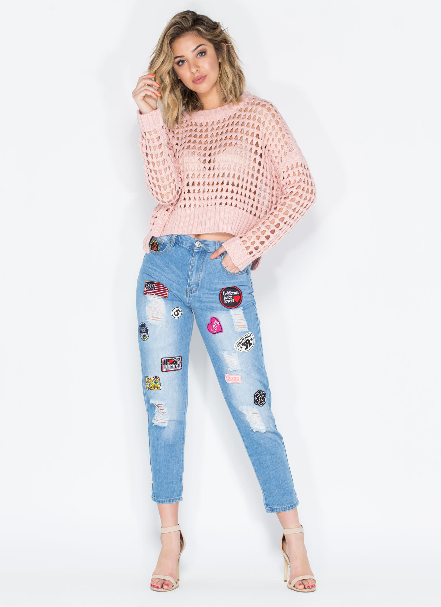 PATCH POINT BOYFRIEND JEANS on The Hunt