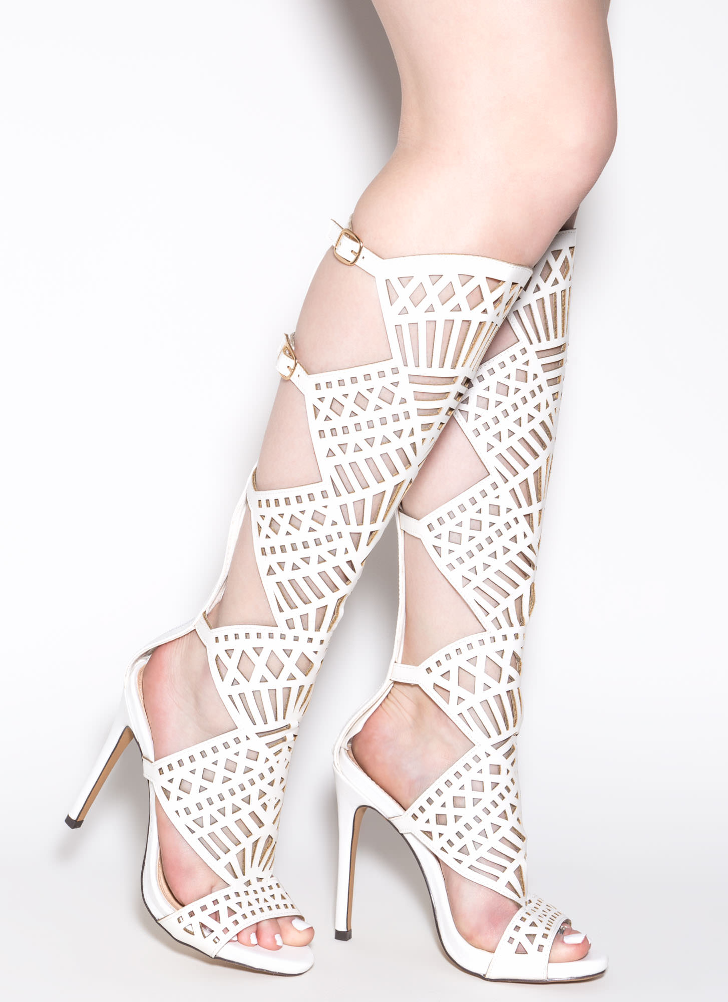 Gladiator Heels White - Is Heel