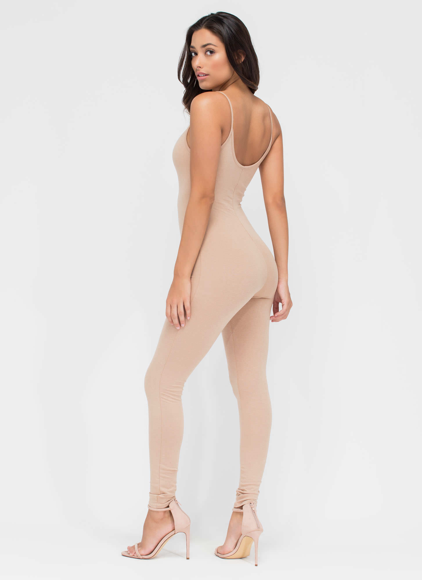 One For The Show Full Bodysuit NUDE