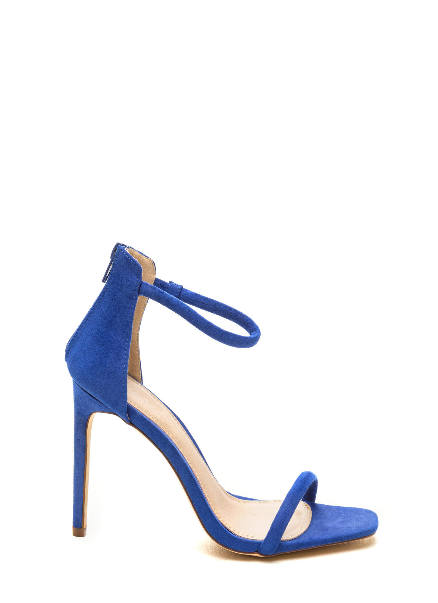 Royal Blue Ankle Strap Heels | Tsaa Heel