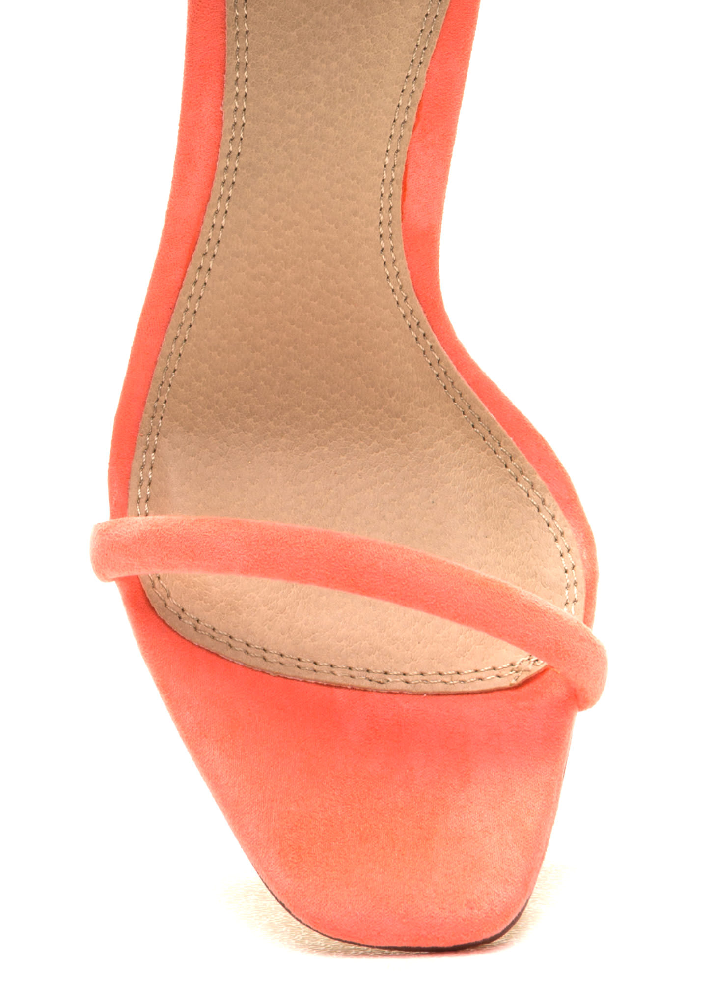 Orange Ankle Strap Heels