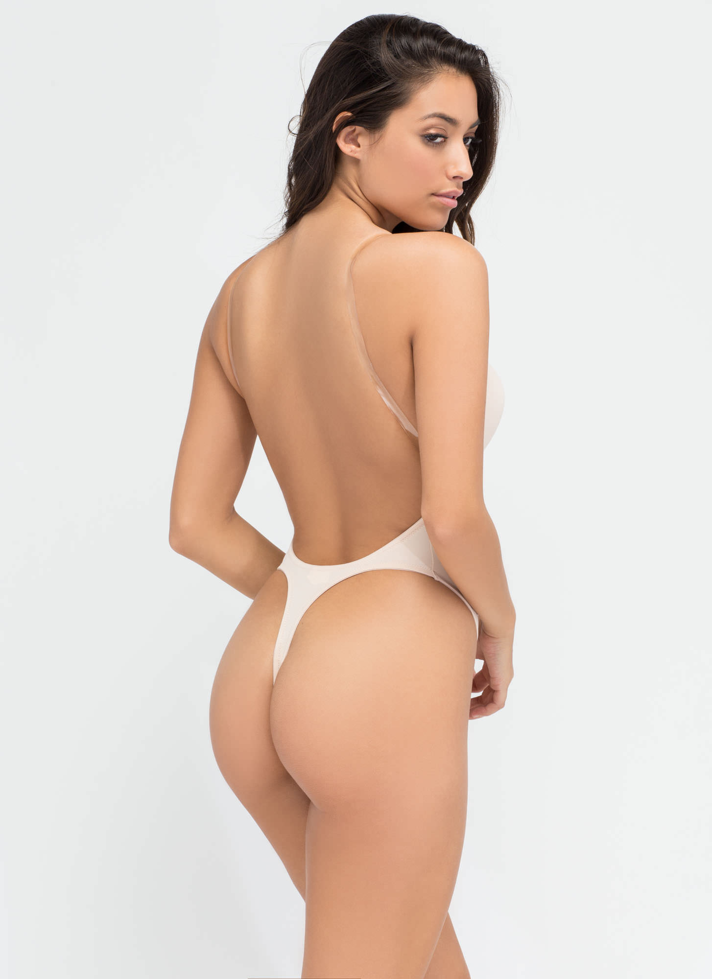 Totally Support This Bodysuit BEIGE (Final Sale)