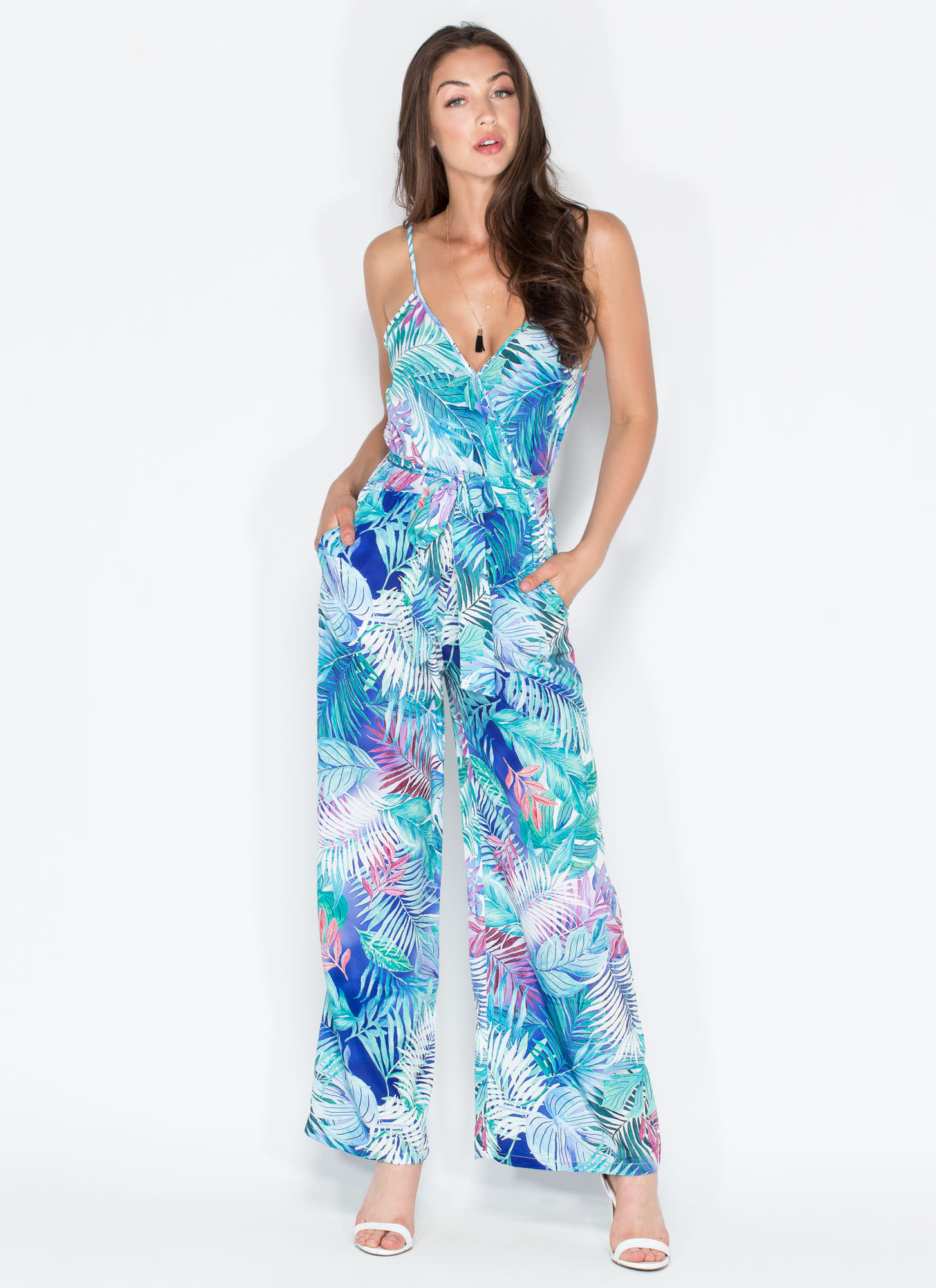 Exotic Escape Wide Leg Jumpsuit BLUE