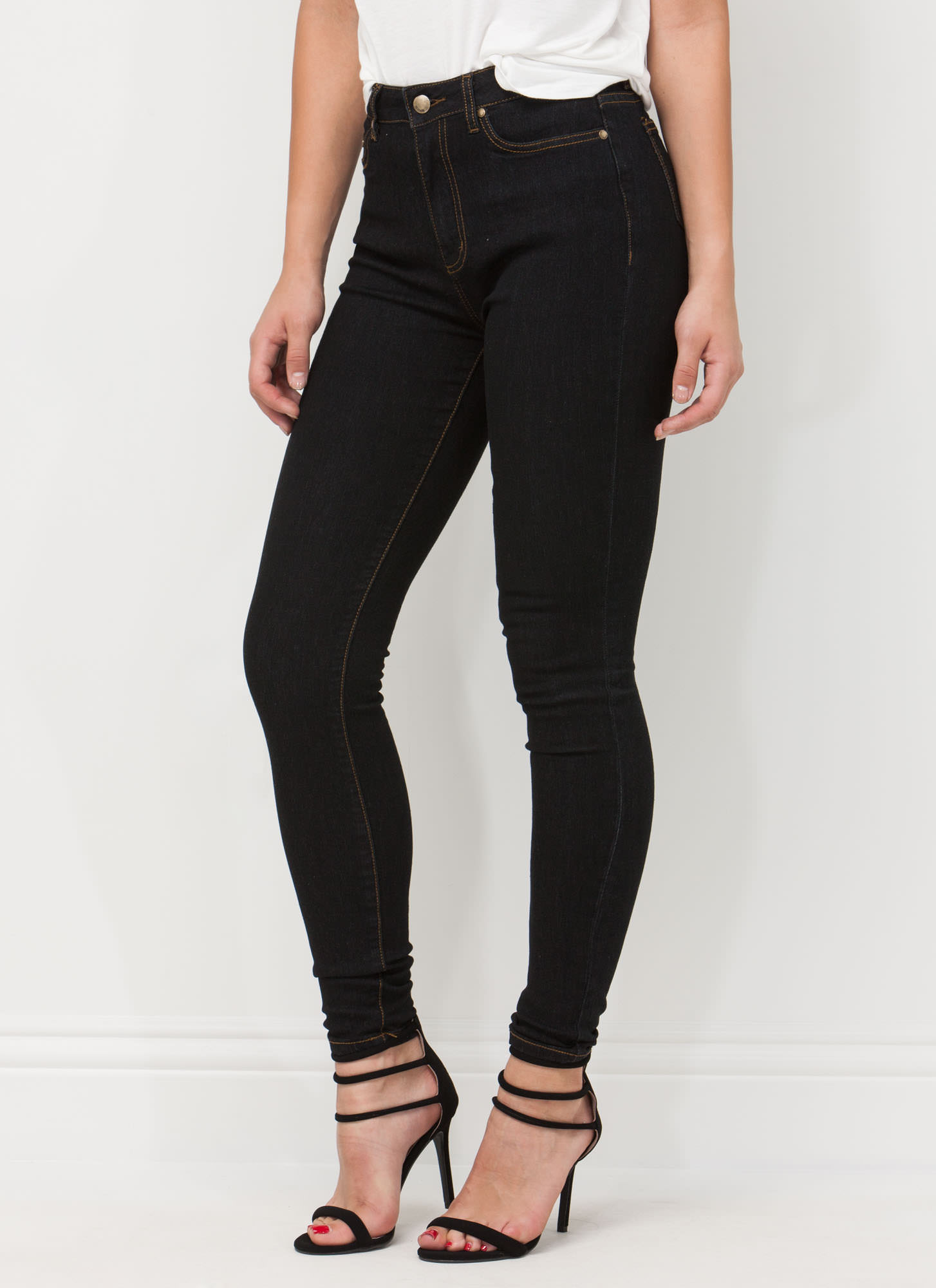 Every Way High-Waisted Skinny Jeans DKBLUE