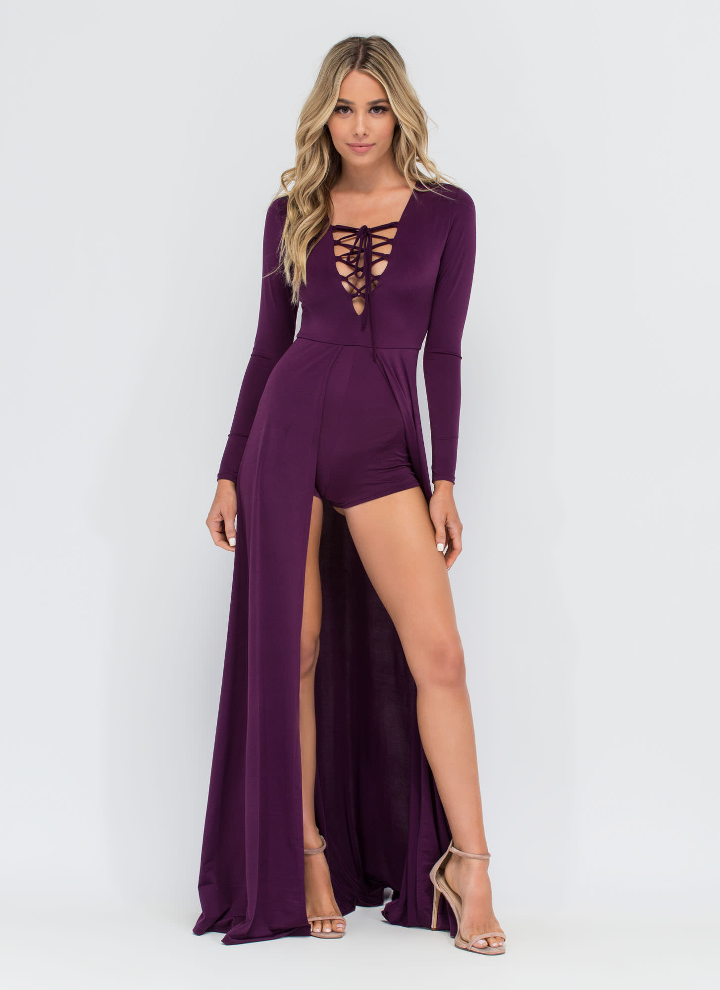 Sweeping Victory Lace-Up Maxi PURPLE