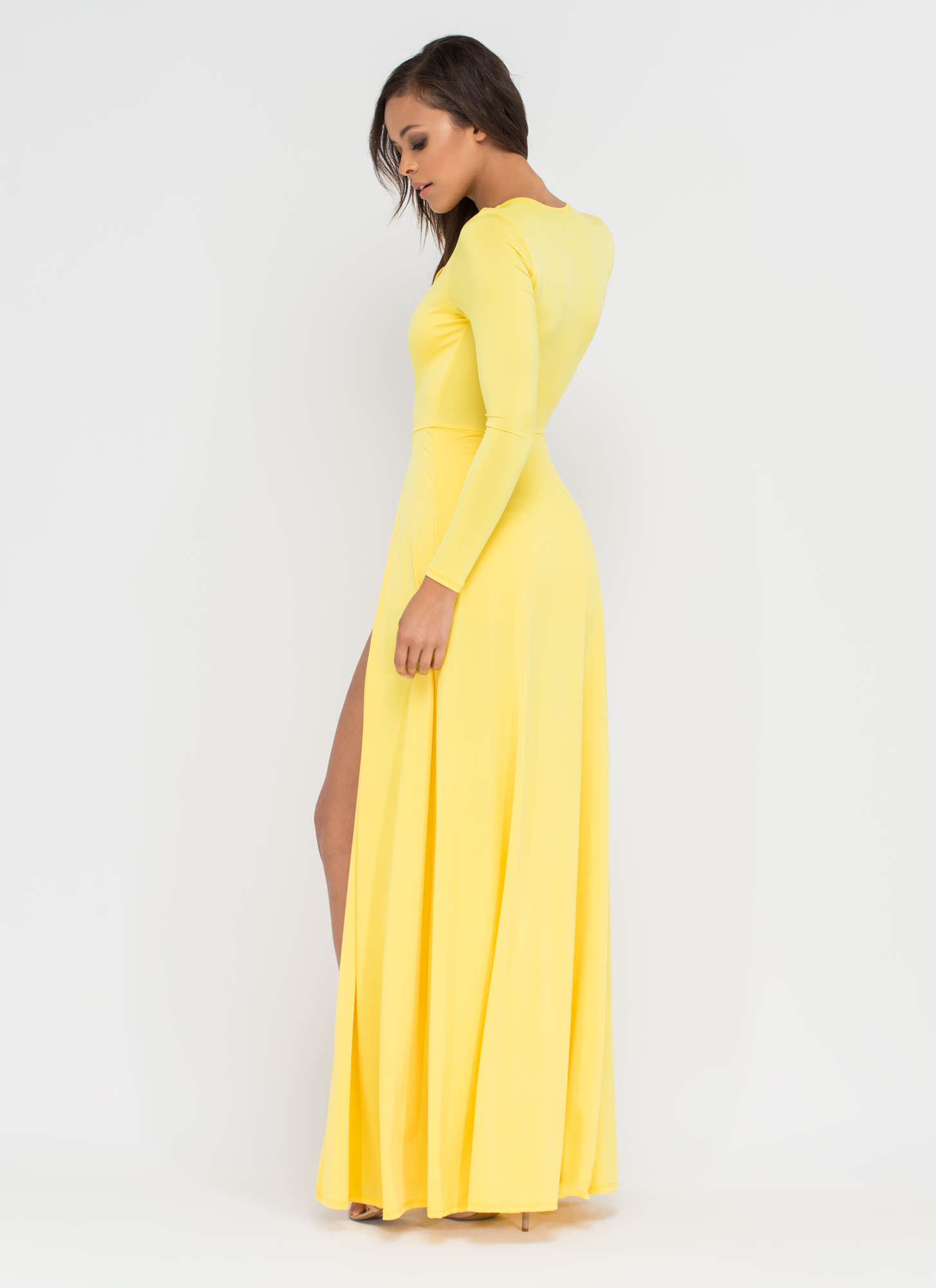 Sweeping Victory Lace-Up Maxi YELLOW