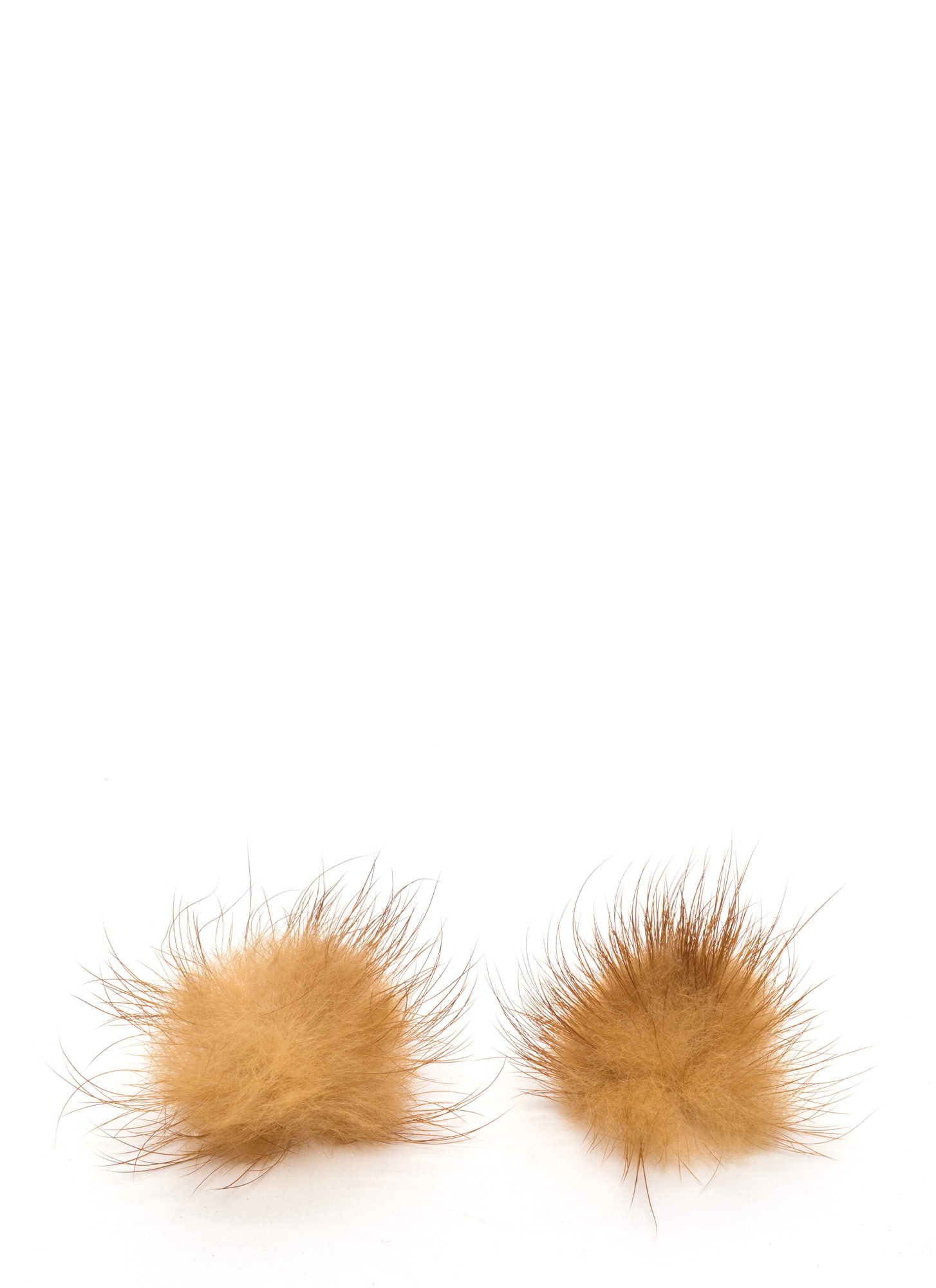 Faux Fur A Change Earrings  BEIGE