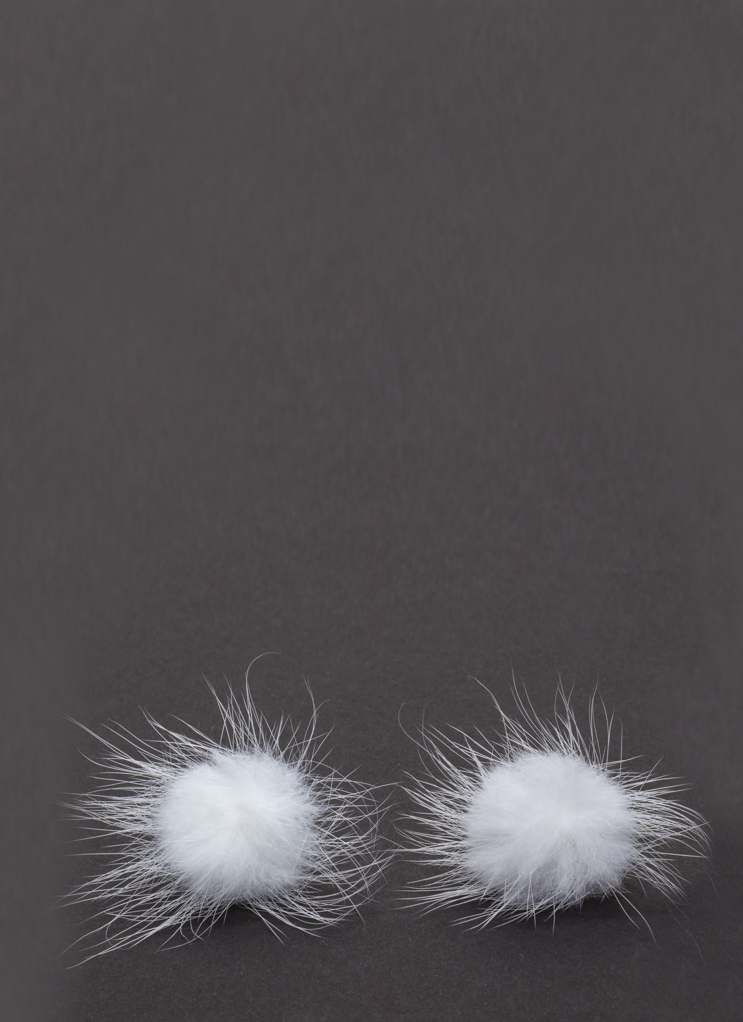 Faux Fur A Change Earrings  WHITE