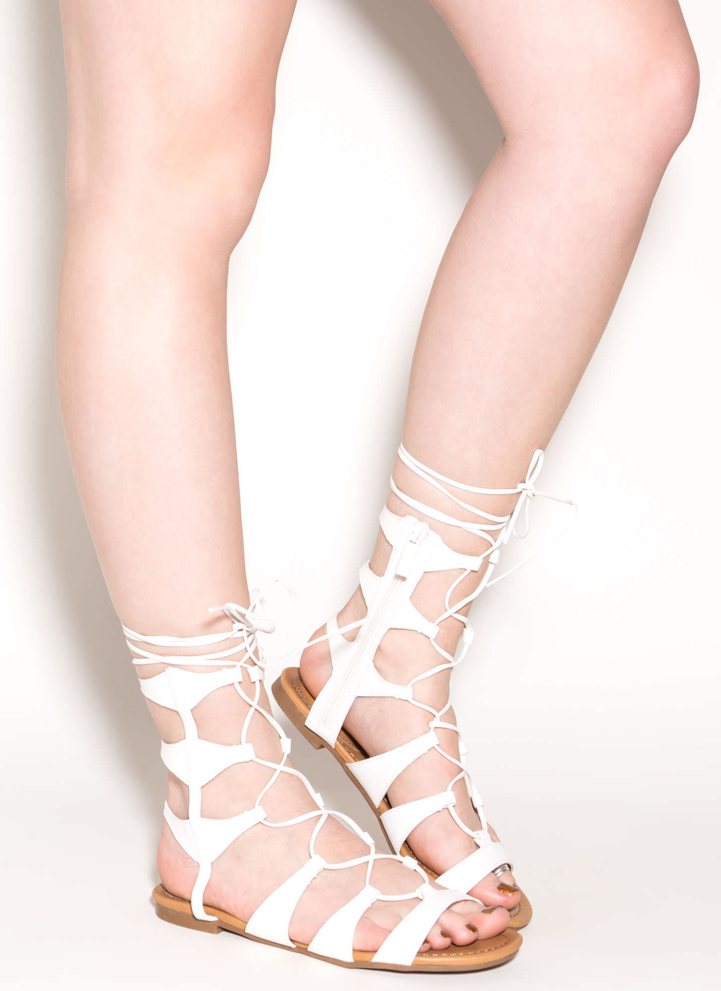 6f19d7d05bb1 White Gladiator Heels - Is Heel