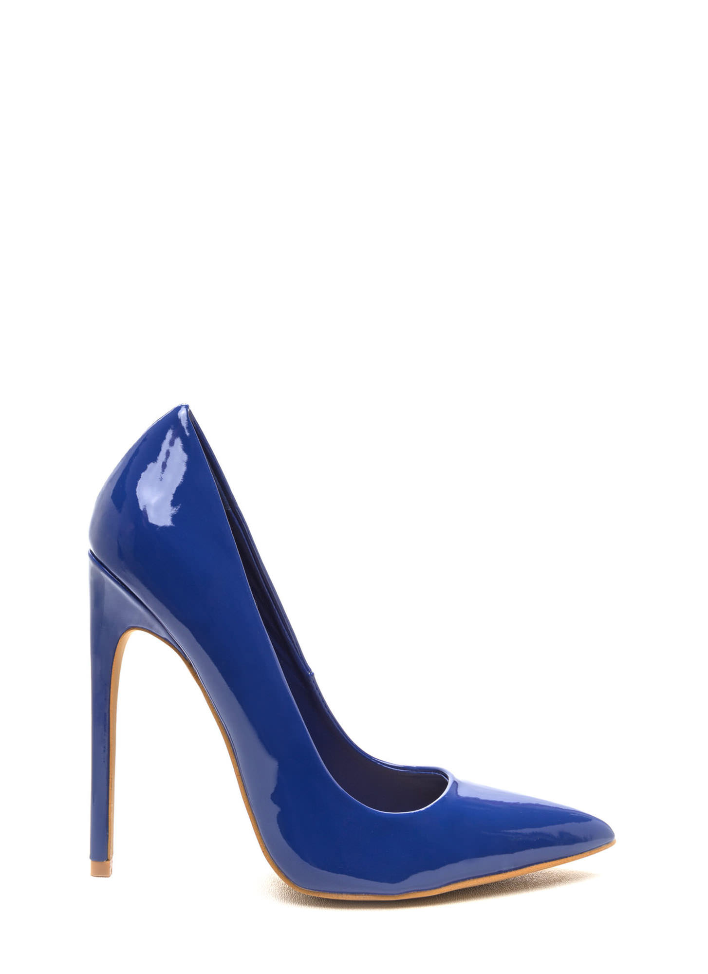 Totally Timeless Faux Patent Pumps BLUE