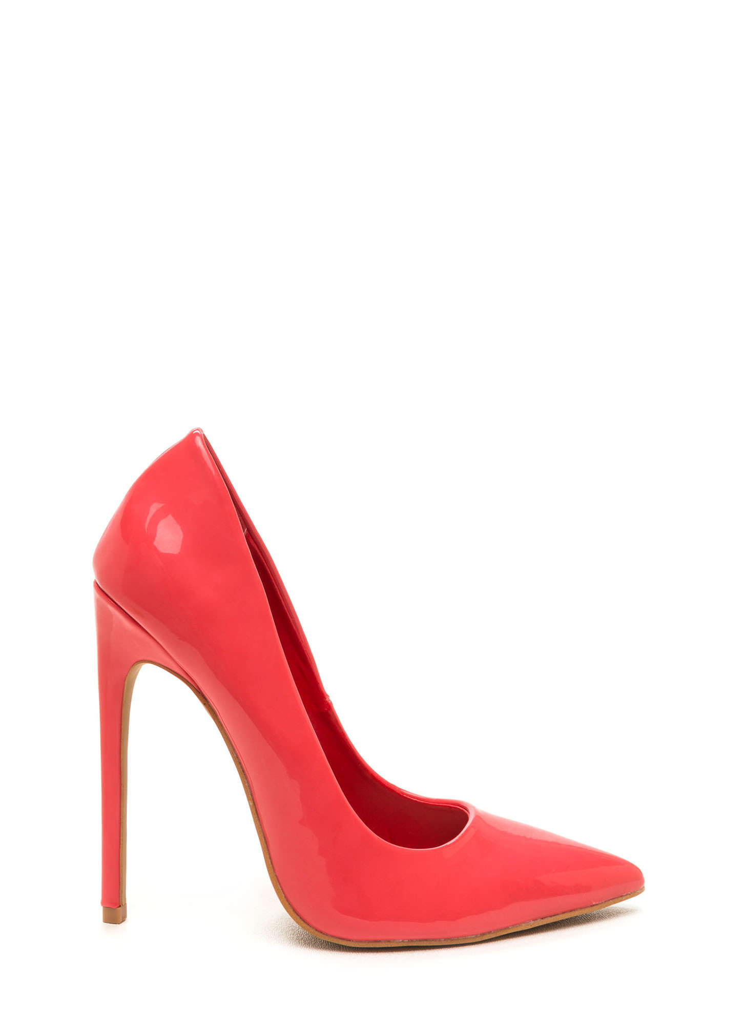 Totally Timeless Faux Patent Pumps BRICK