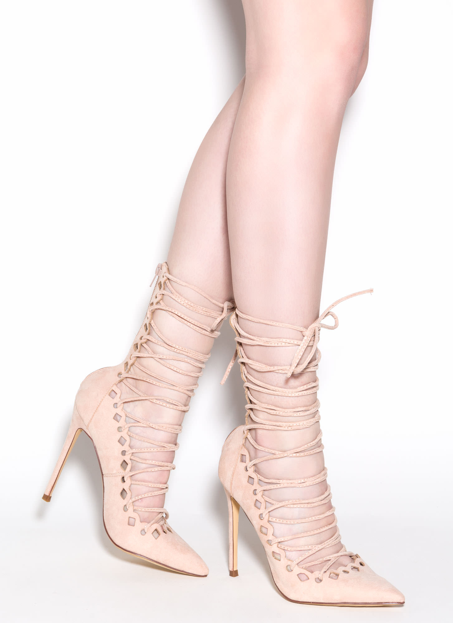 Nude And Pink Heels