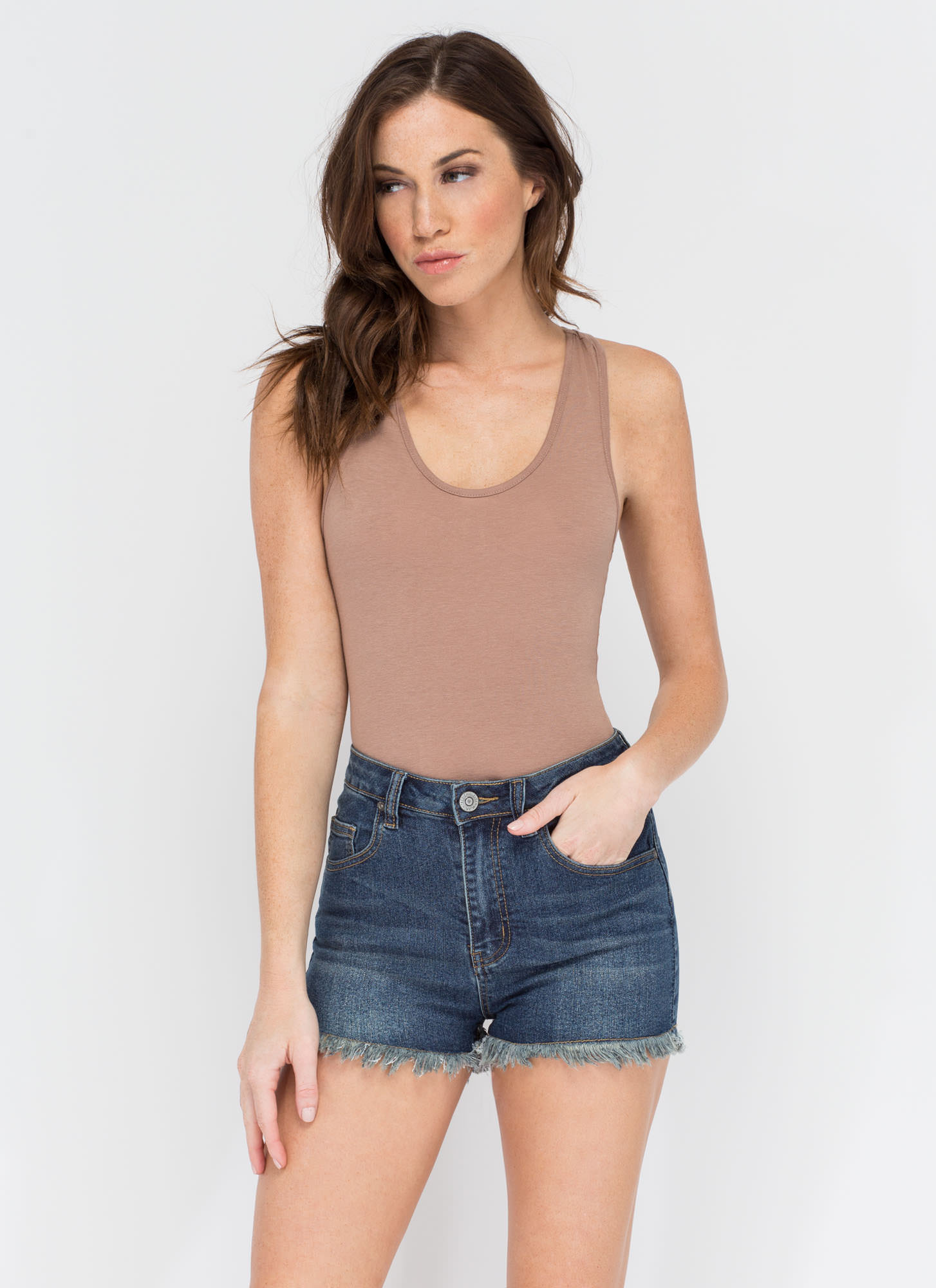 Day In Day Out Denim Shorts
