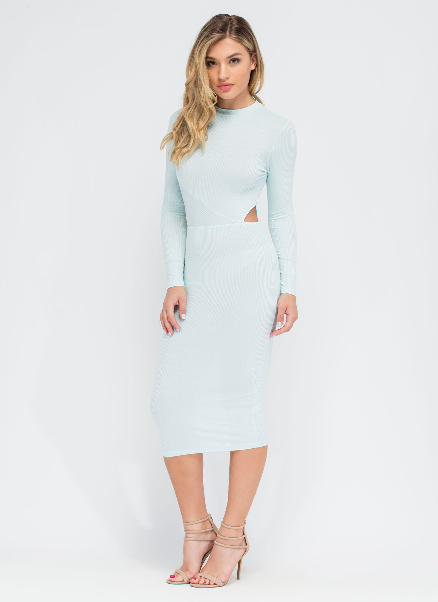 Falling Into Place Midi Dress MINT