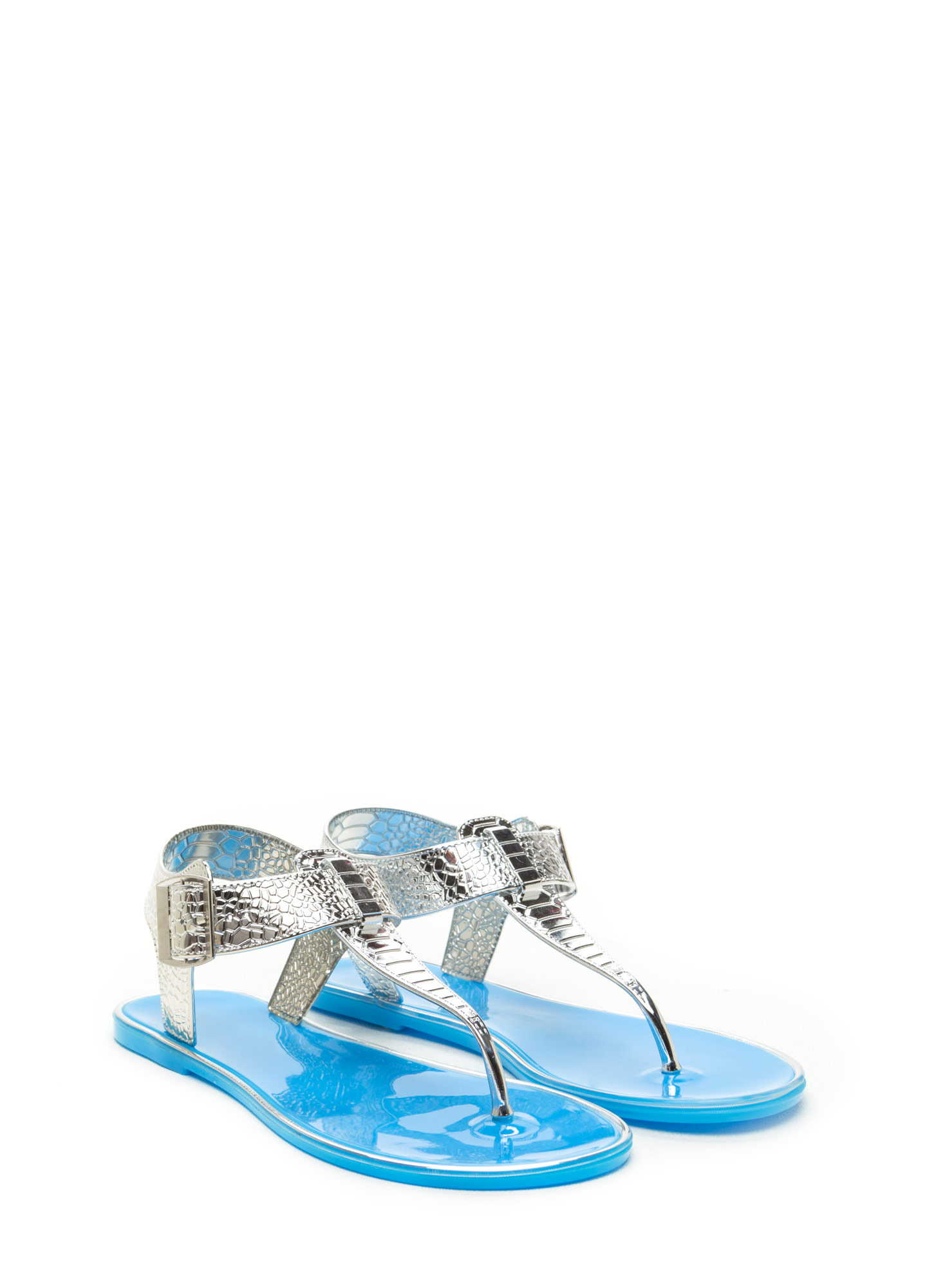 Venomous Vixen Metallic Sandals BLUE