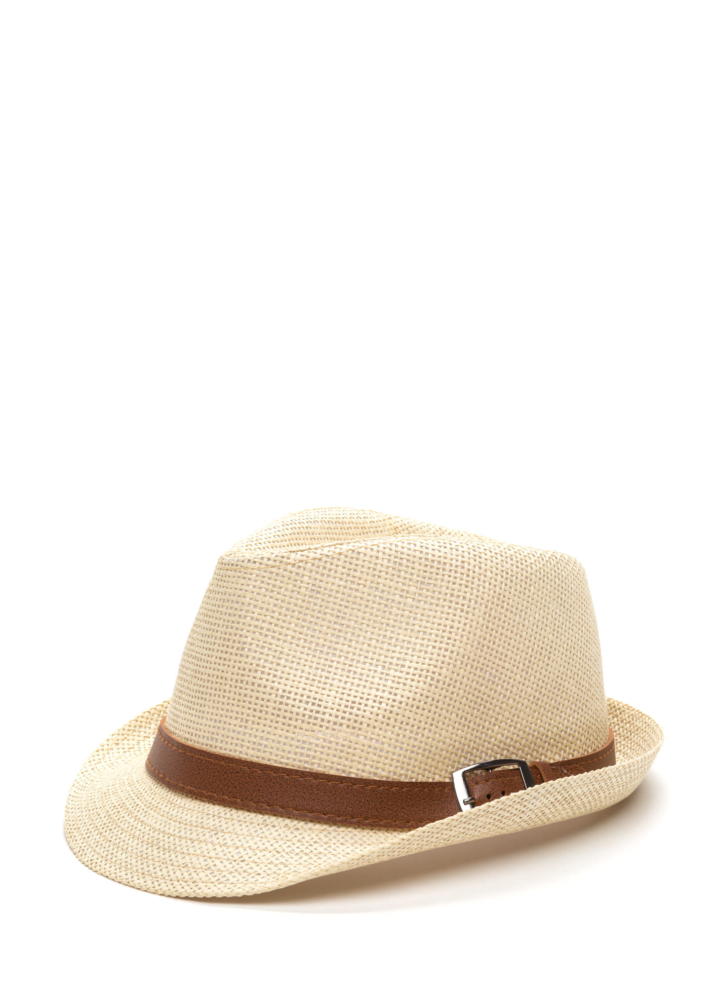 Casual Stroll Woven Fedora Hat IVORY