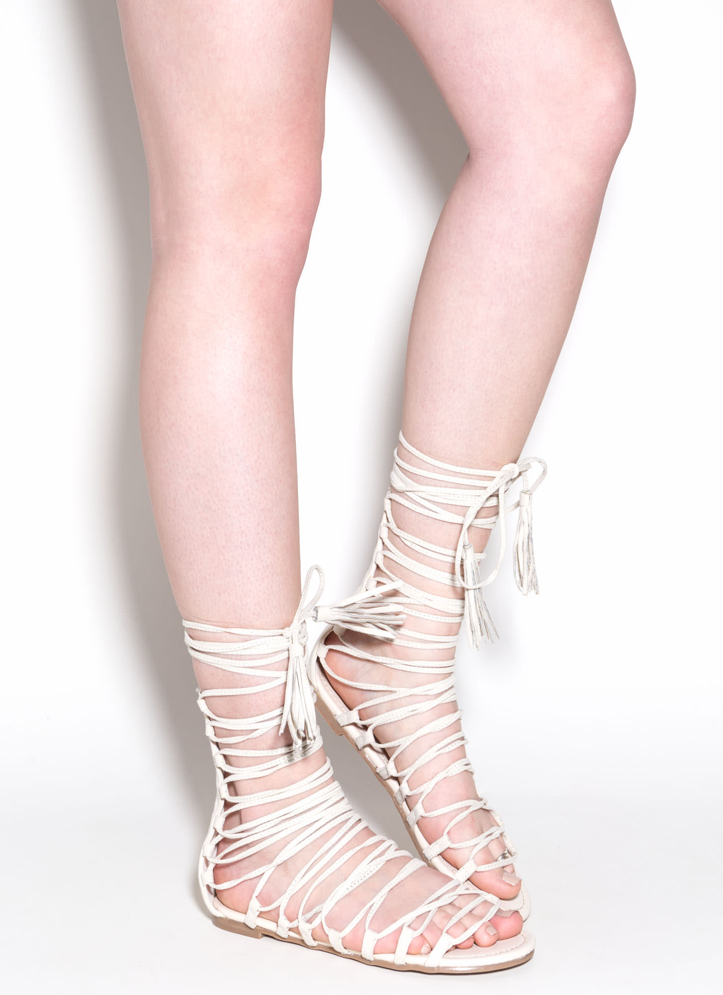 Around And Around Lace-Up Sandals Image