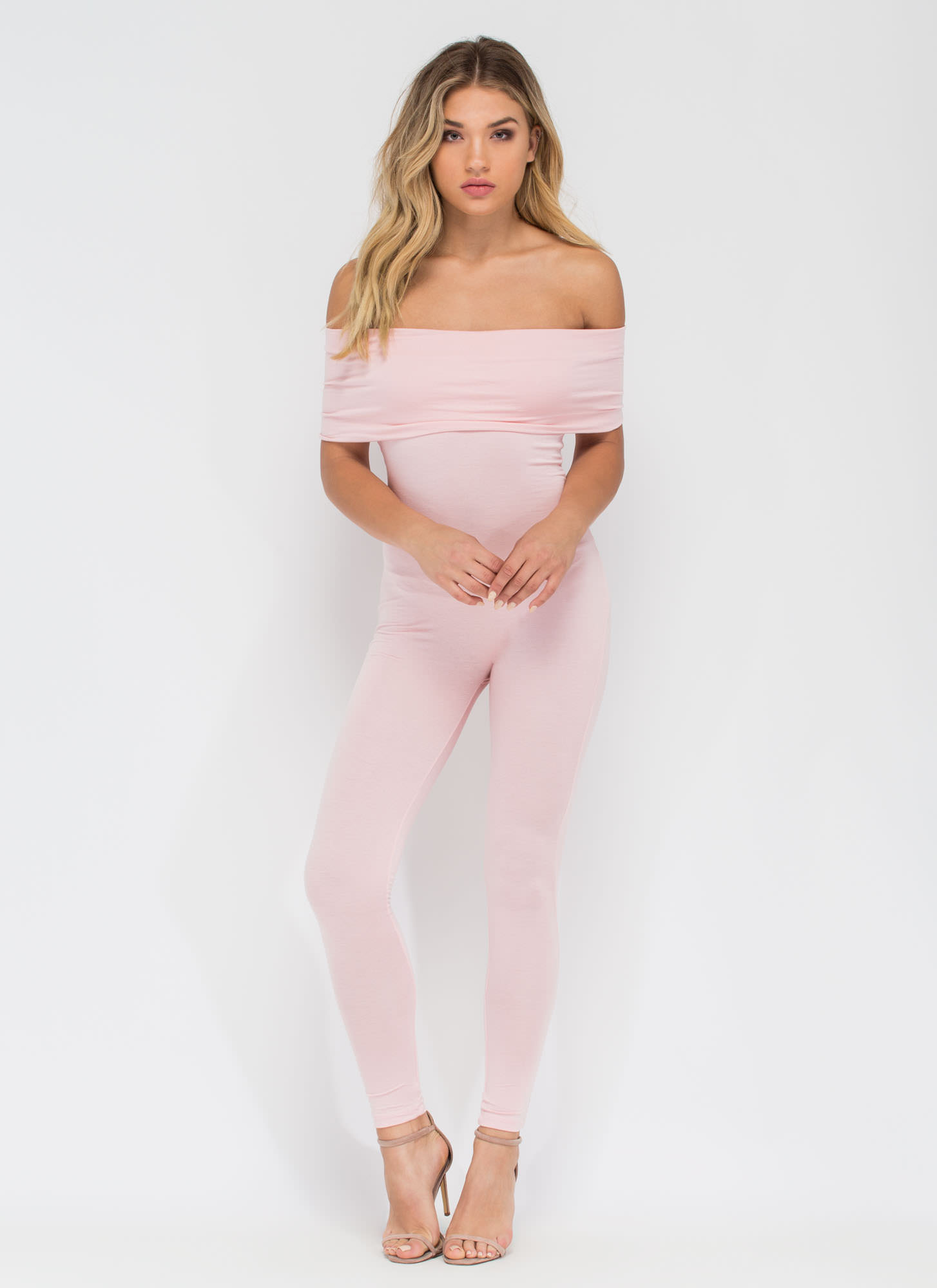 Know When To Fold 'Em Jumpsuit BLUSH