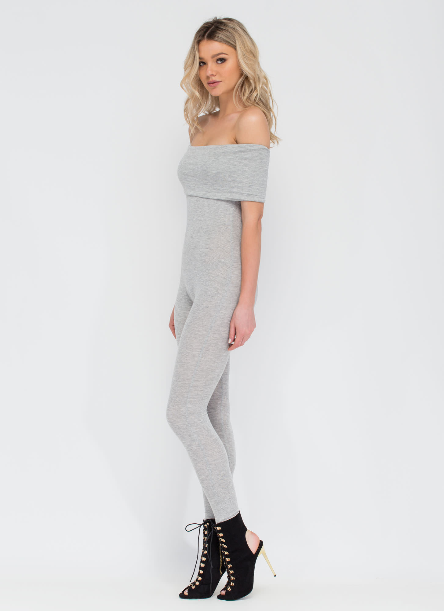 Know When To Fold 'Em Jumpsuit HGREY