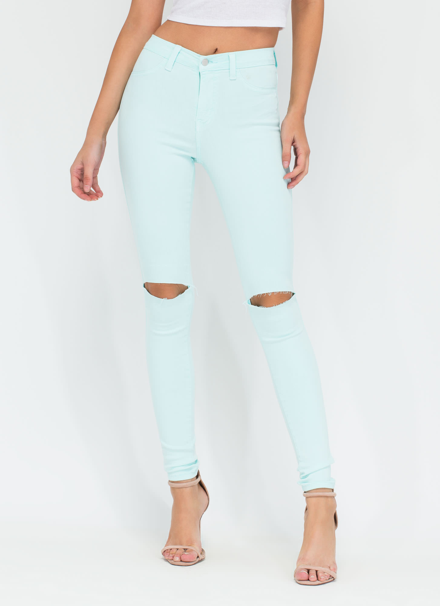 Color High Waisted Jeans