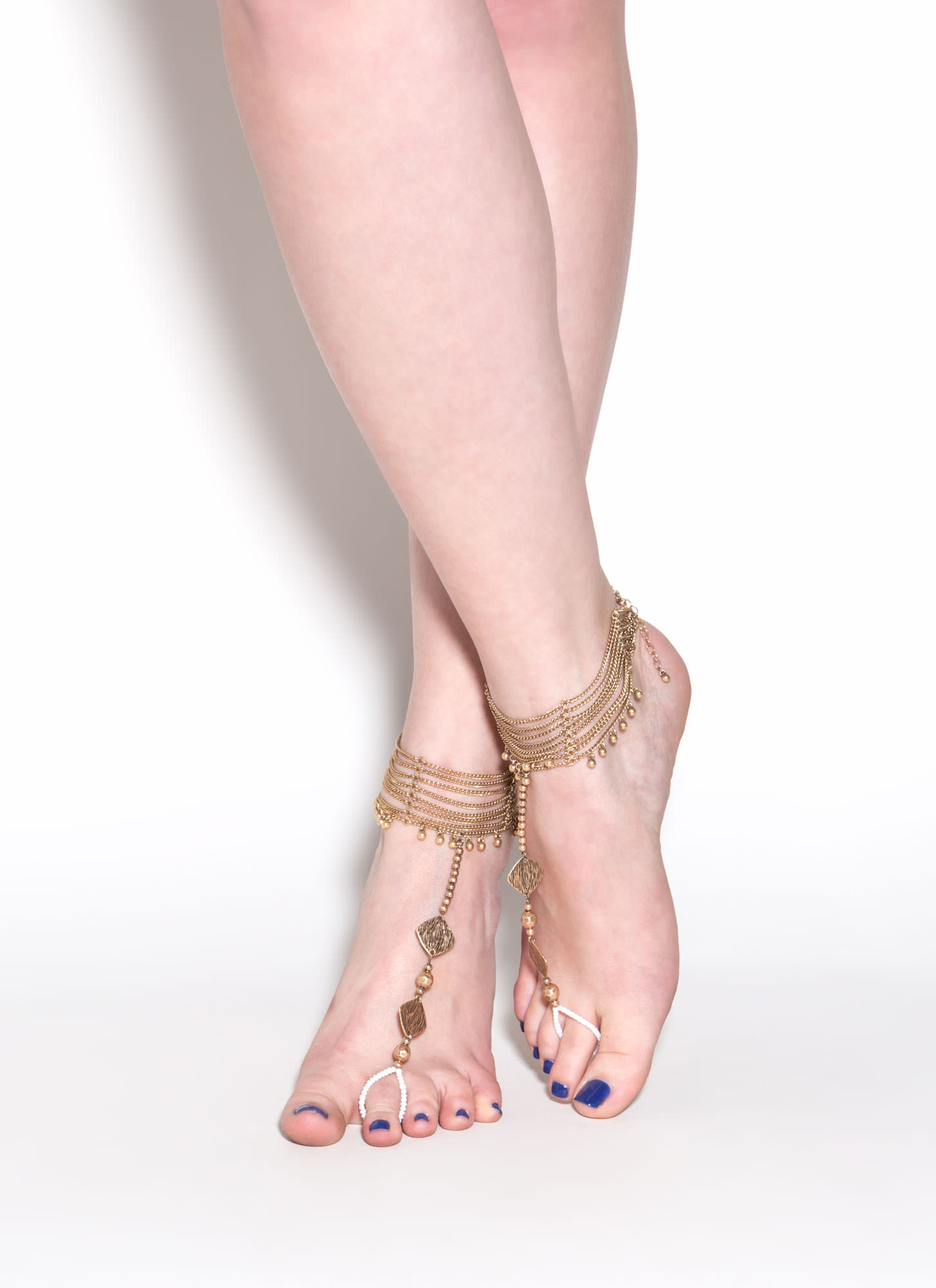 Bead You To It Ankle Bracelet Set GOLD