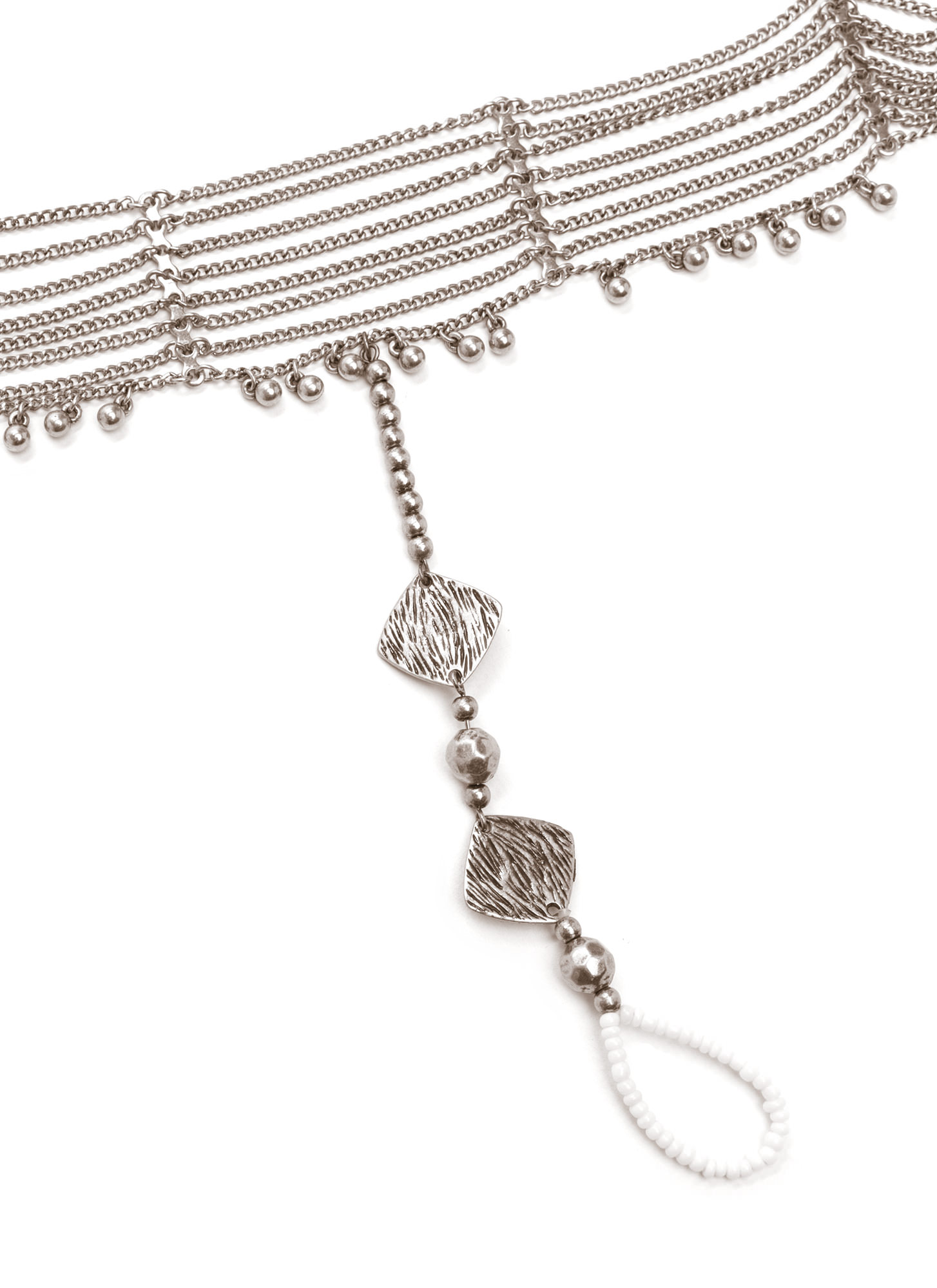 Bead You To It Ankle Bracelet Set SILVER