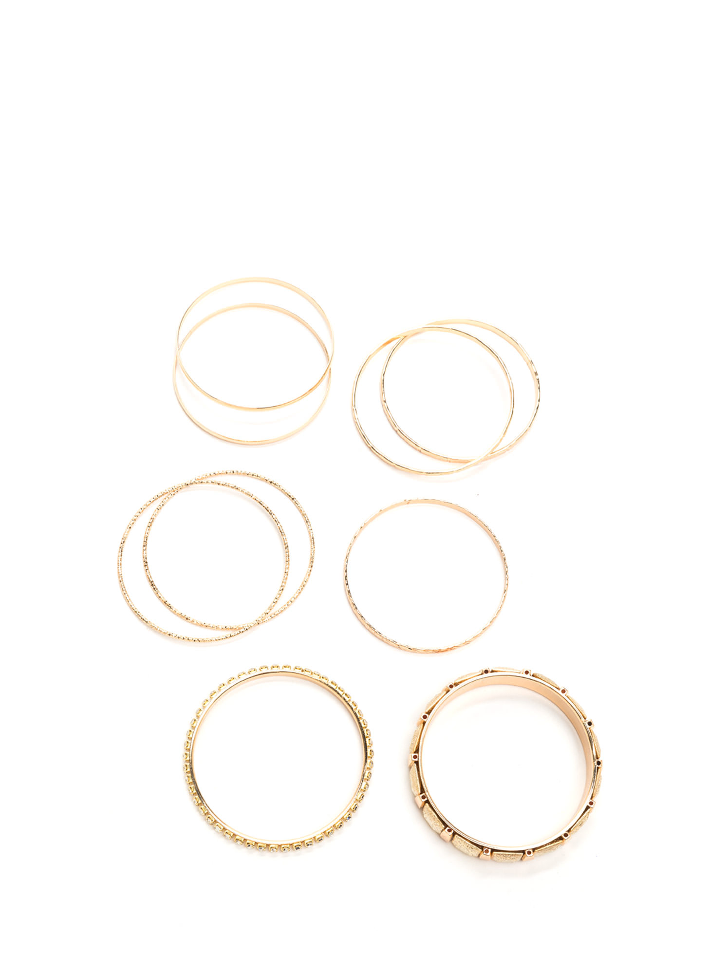 Nine Lives Metallic Bangle Set GOLD