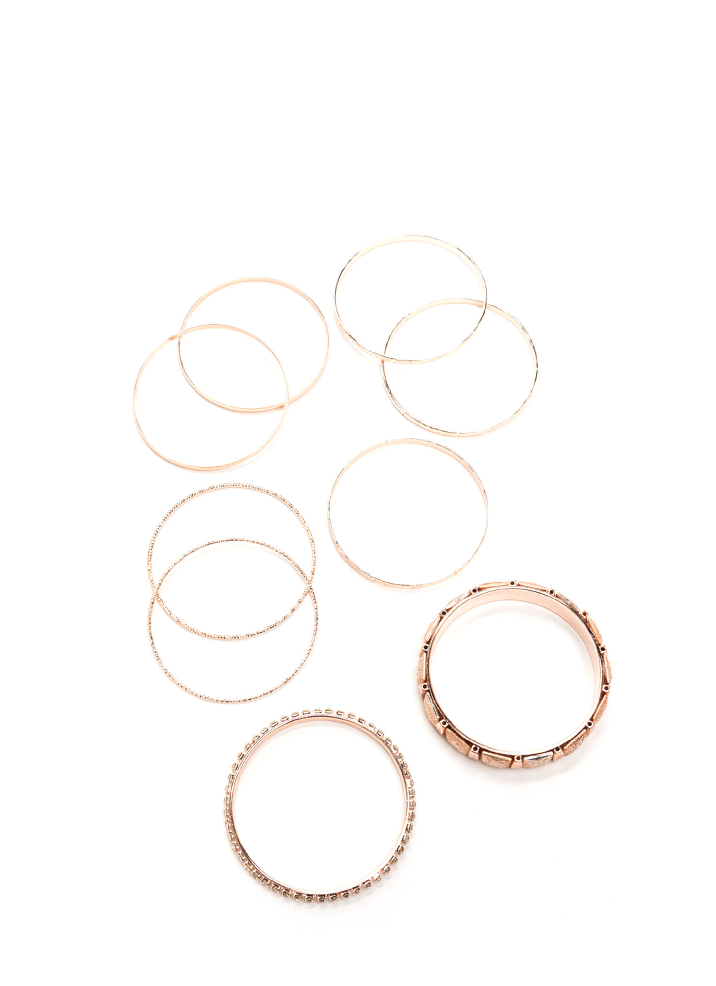 Nine Lives Metallic Bangle Set ROSEGOLD