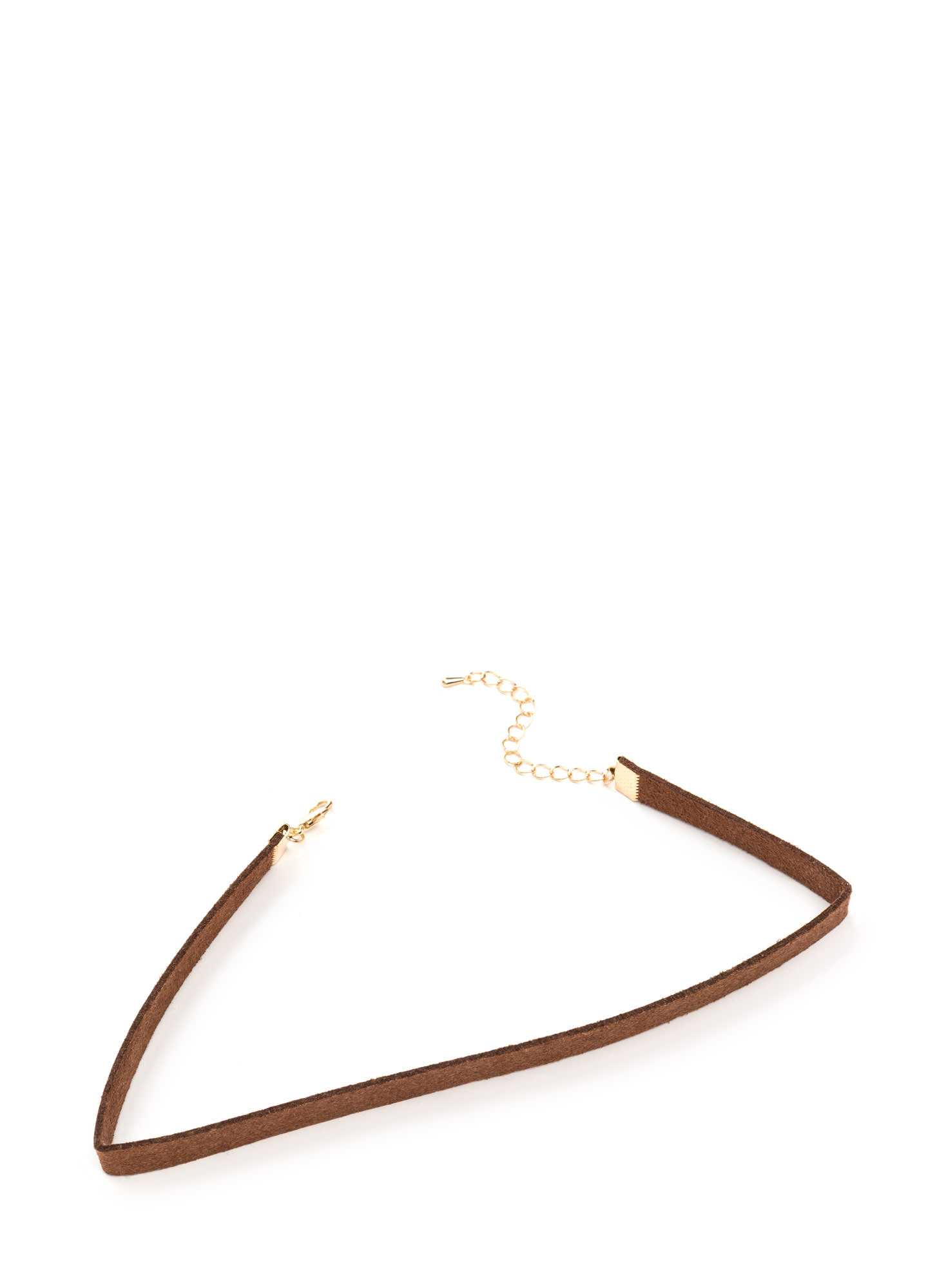 She's All That Faux Suede Choker DKBROWN