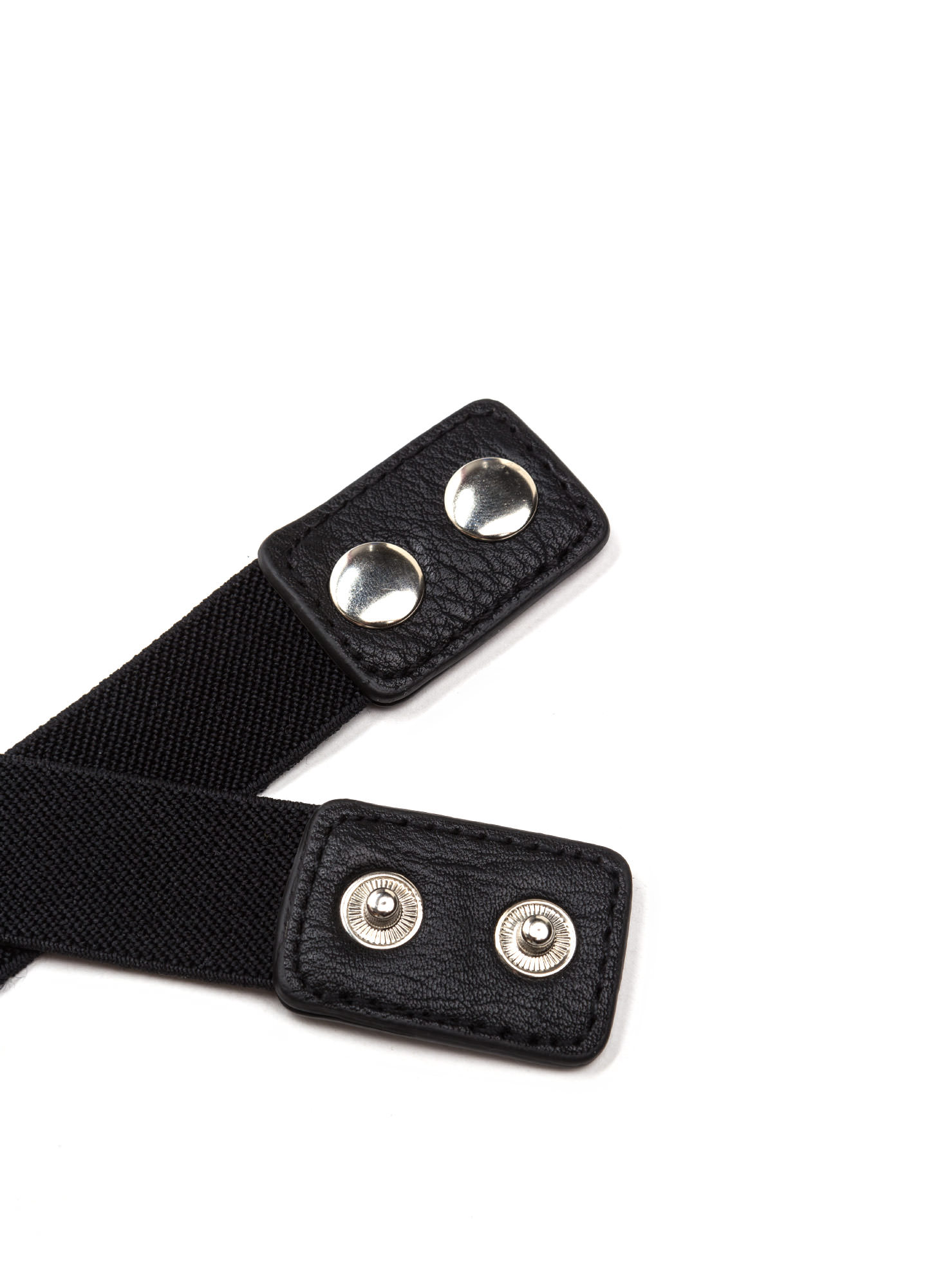 Style Bandit Stretchy Double Buckle Belt BLACKSILVER